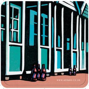 Adnams Beach Huts' Beer mats front 3