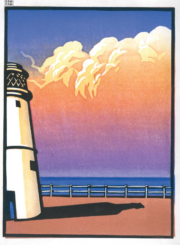 Adnams 'Lighthouse Sunset 2' Chris Wormell