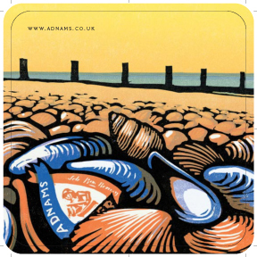 Adnams 'Shells' Beer mats front 2