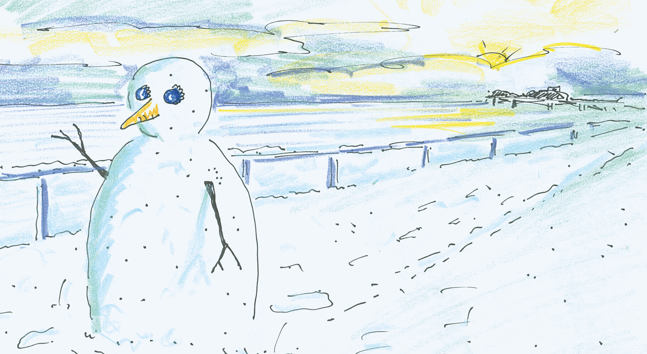 Adnams 'Snowman' Christmas Card' Dave Rough