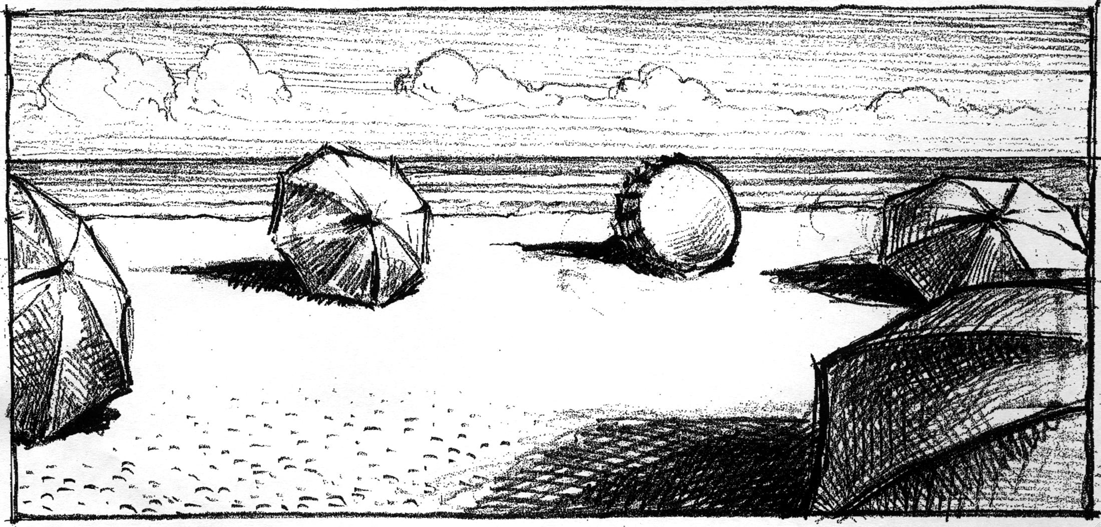 Adnams 'Umbrellas' Chris Wormell Rough