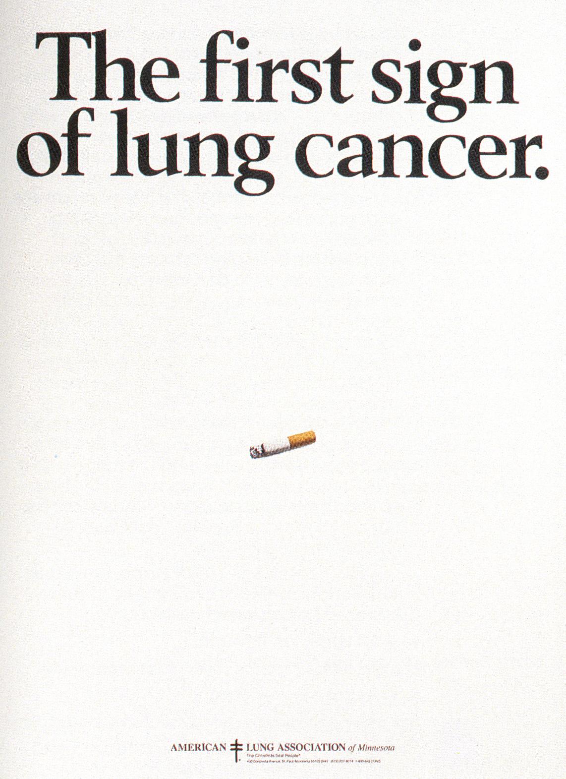 Fallon McElligott, Anti Smoking 'First Sign'-01