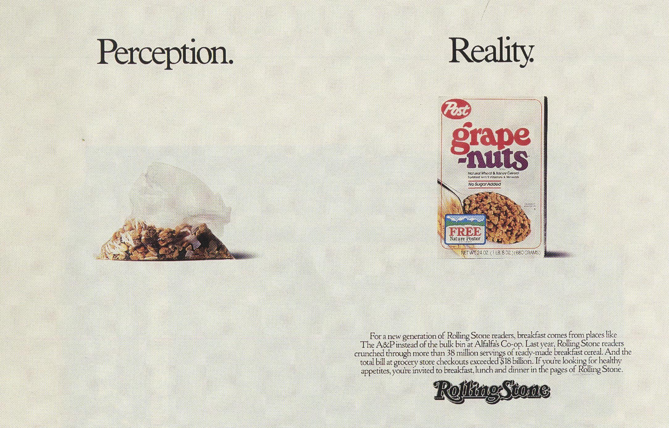 Fallon McElligott, Rolling Stone 'Grape Nuts'-01
