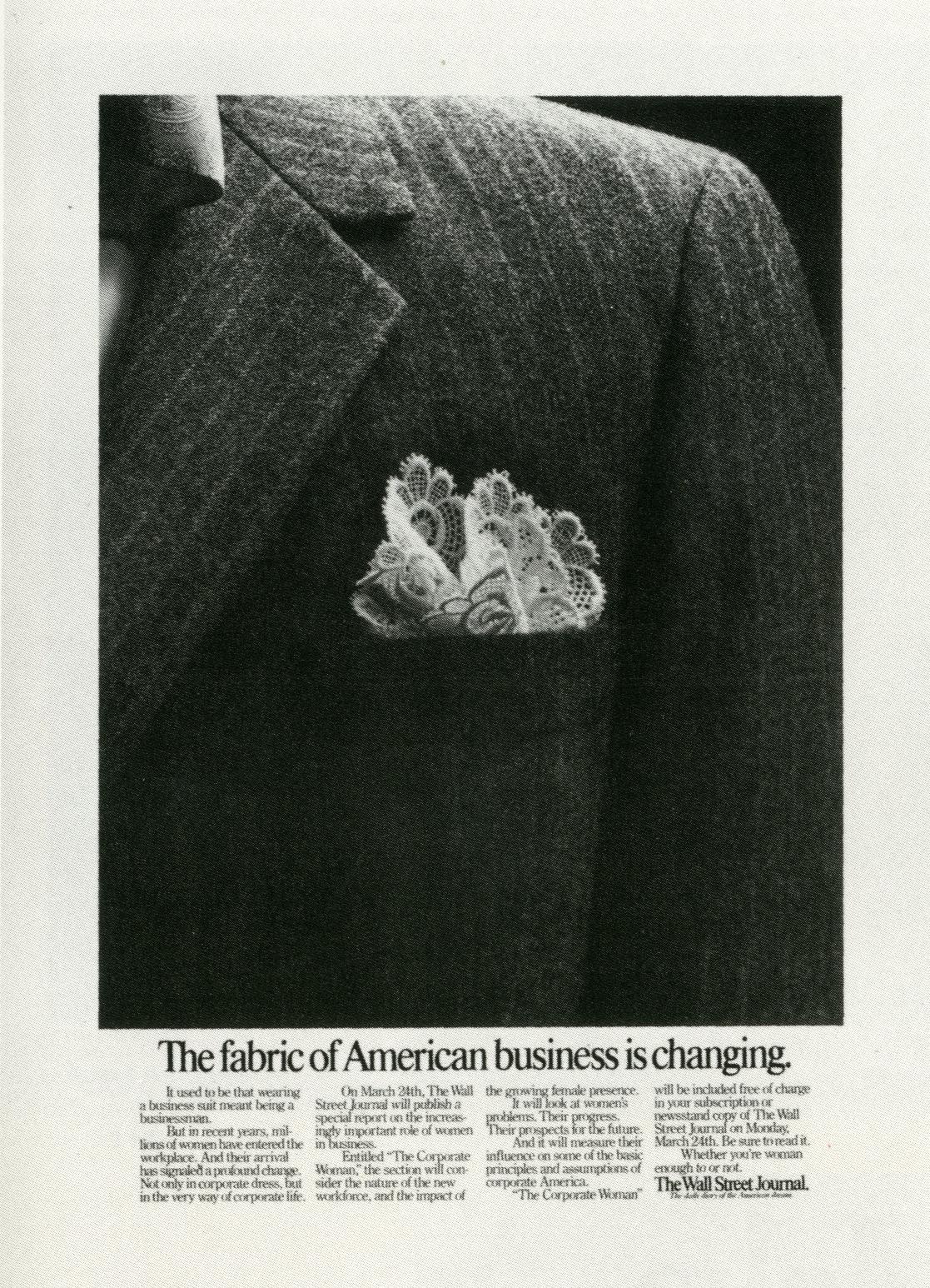 Fallon McElligott, Wall Street Journal 'Fabric' -01
