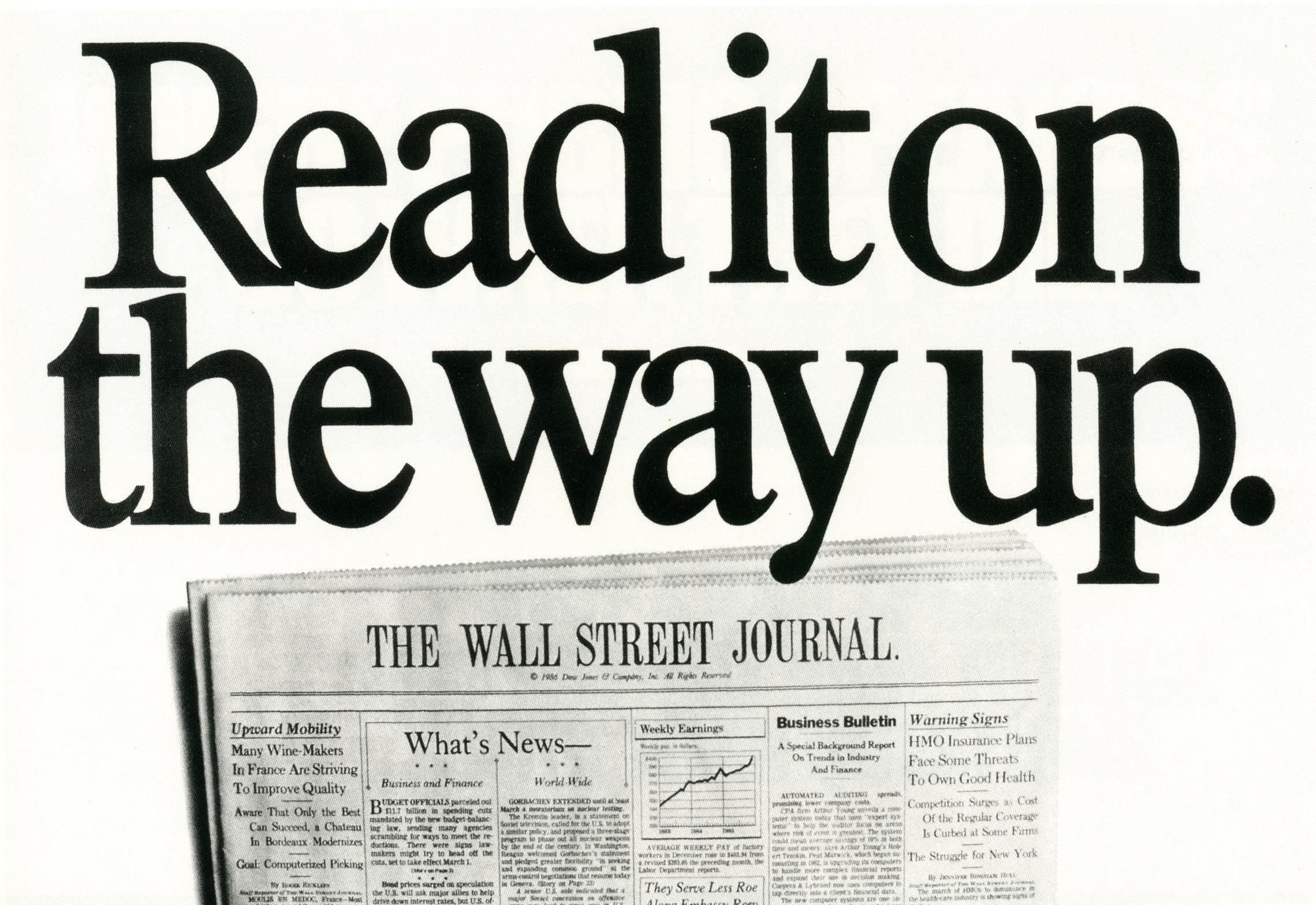 Fallon McElligott, Wall Street Journal, 'On The Way'-01