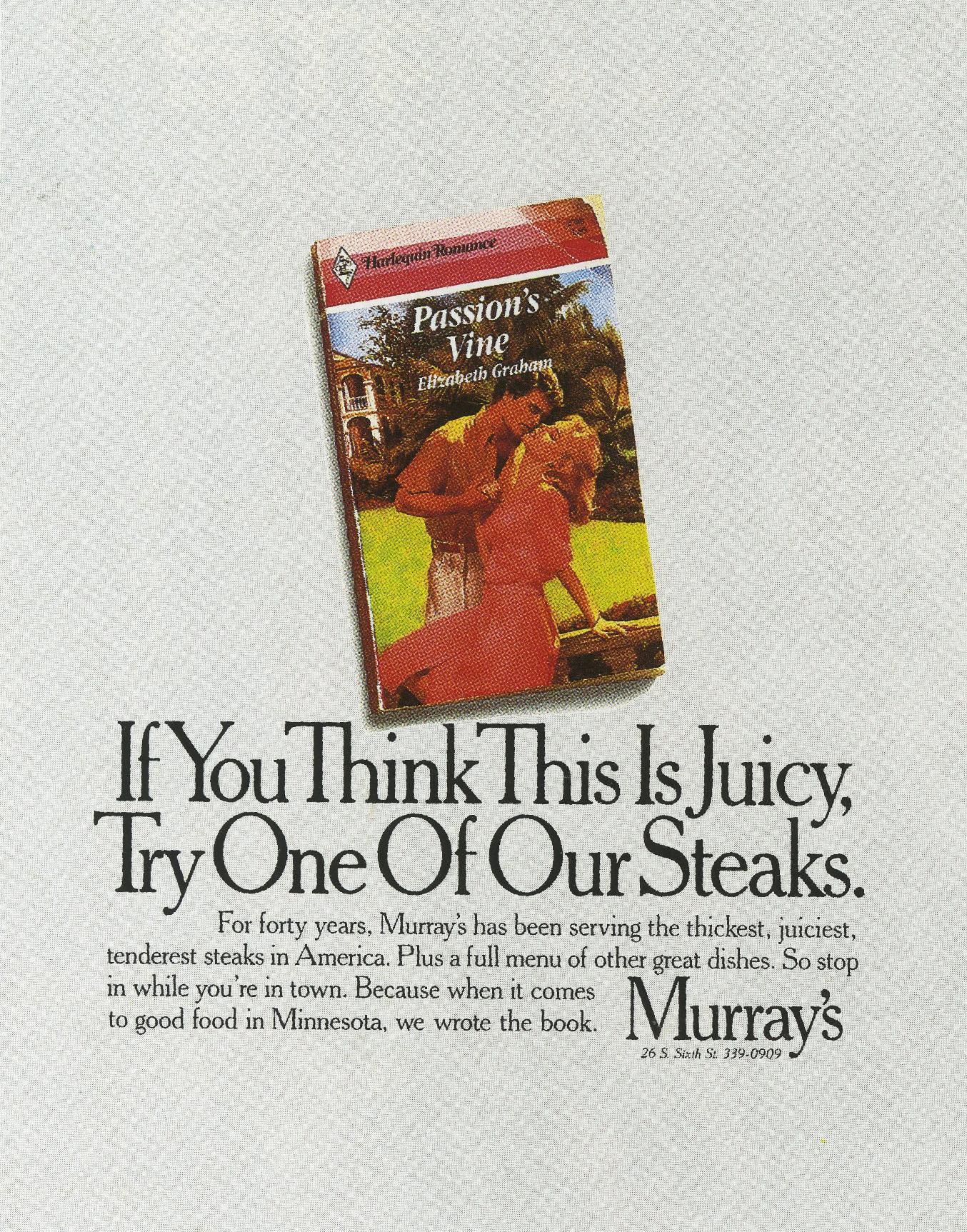Tom McElligott, Murray's 'Juicy', -01