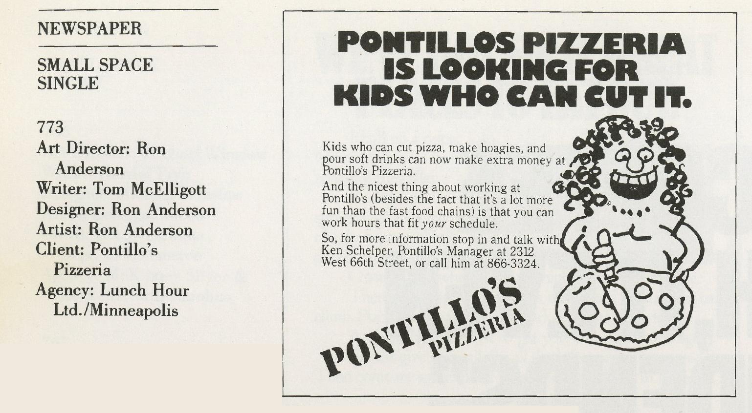 Tom McElligott, Pontillo's - 'Cut It'-01
