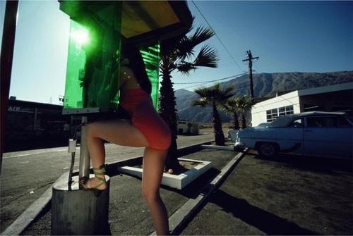 'Green Phonebooth' Charles Jourdan, Guy Bourdain