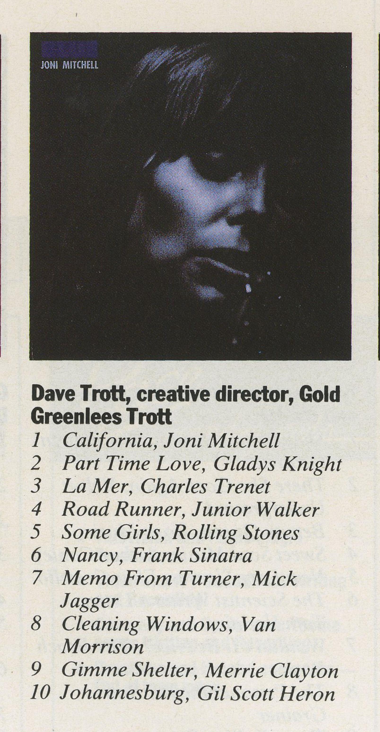 Dave Trott Top 10 Albums