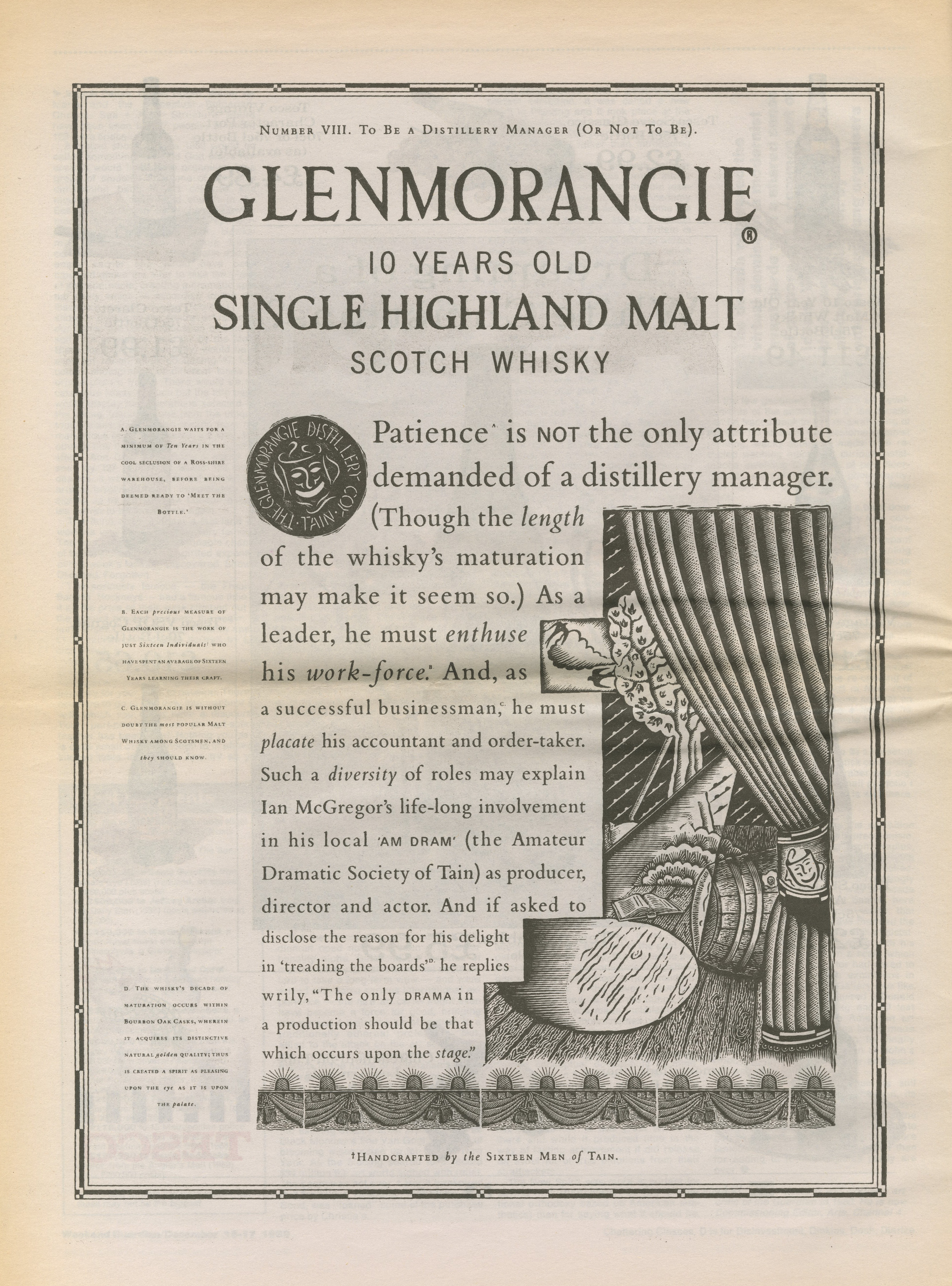 Glenmorangie 'Newspaper' HKR, Mark Reddy