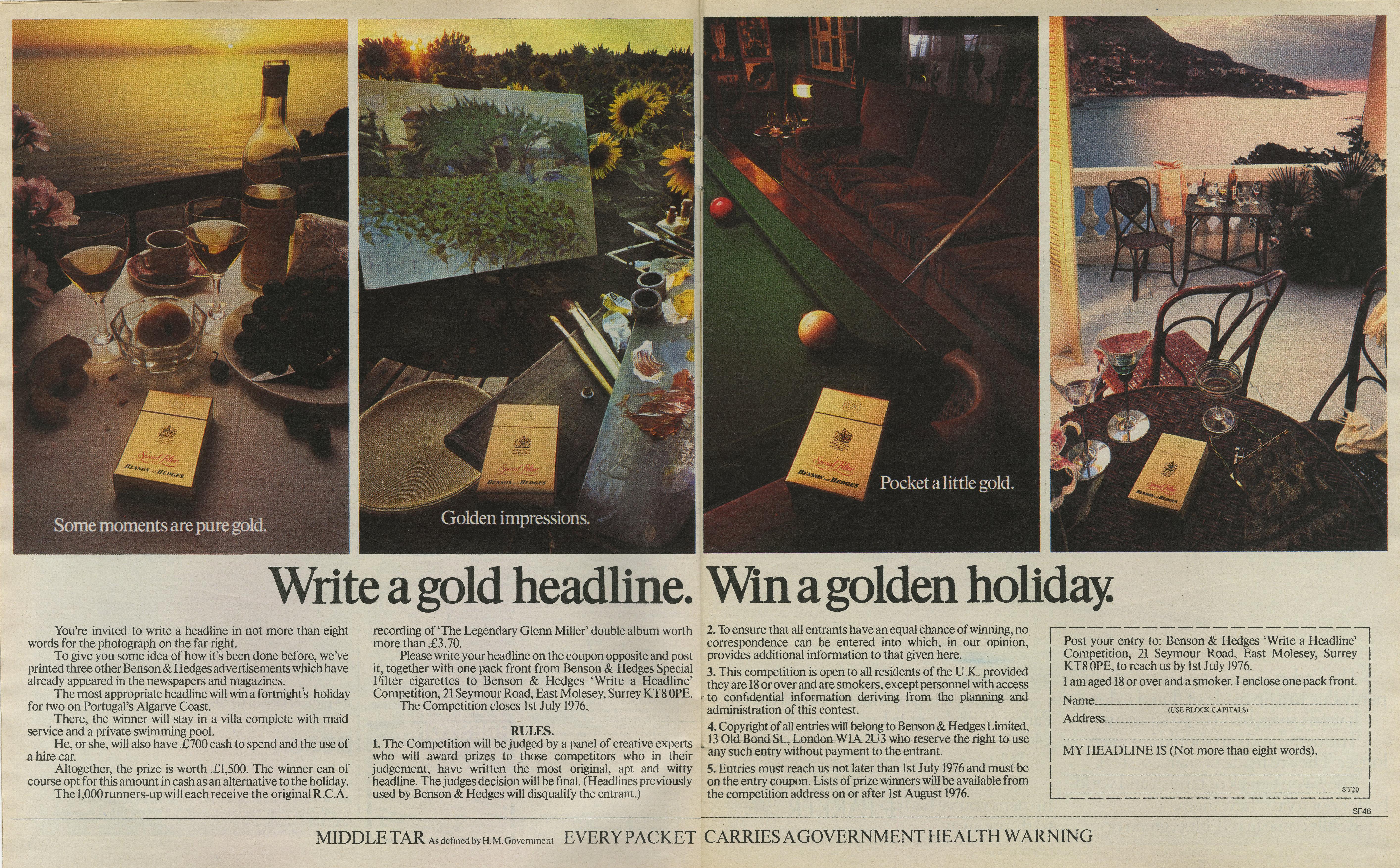 B&H Gold Box 'Headline' CDP-01