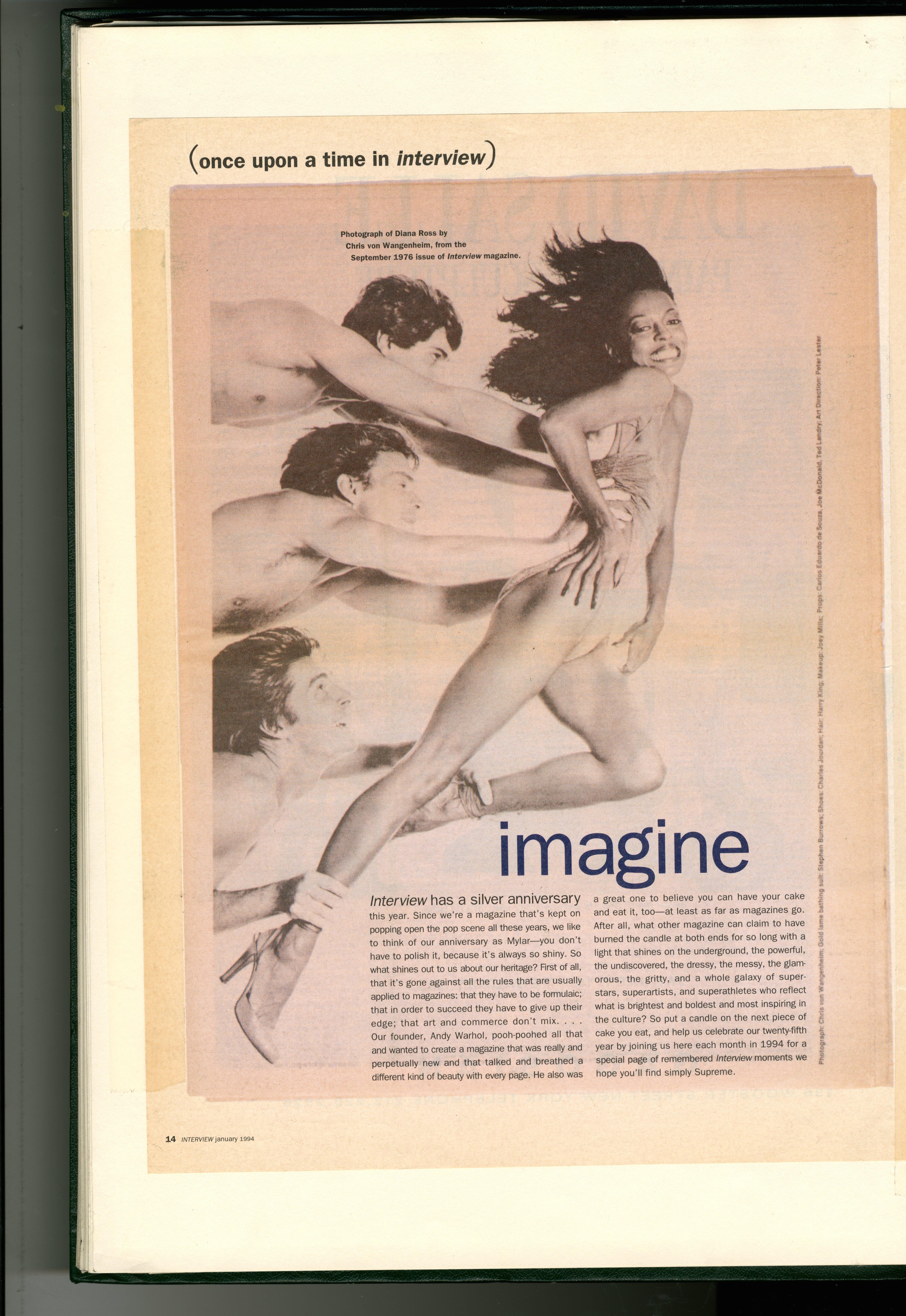 Dave Dye:Diana Ross:Interview Magazine:1970's