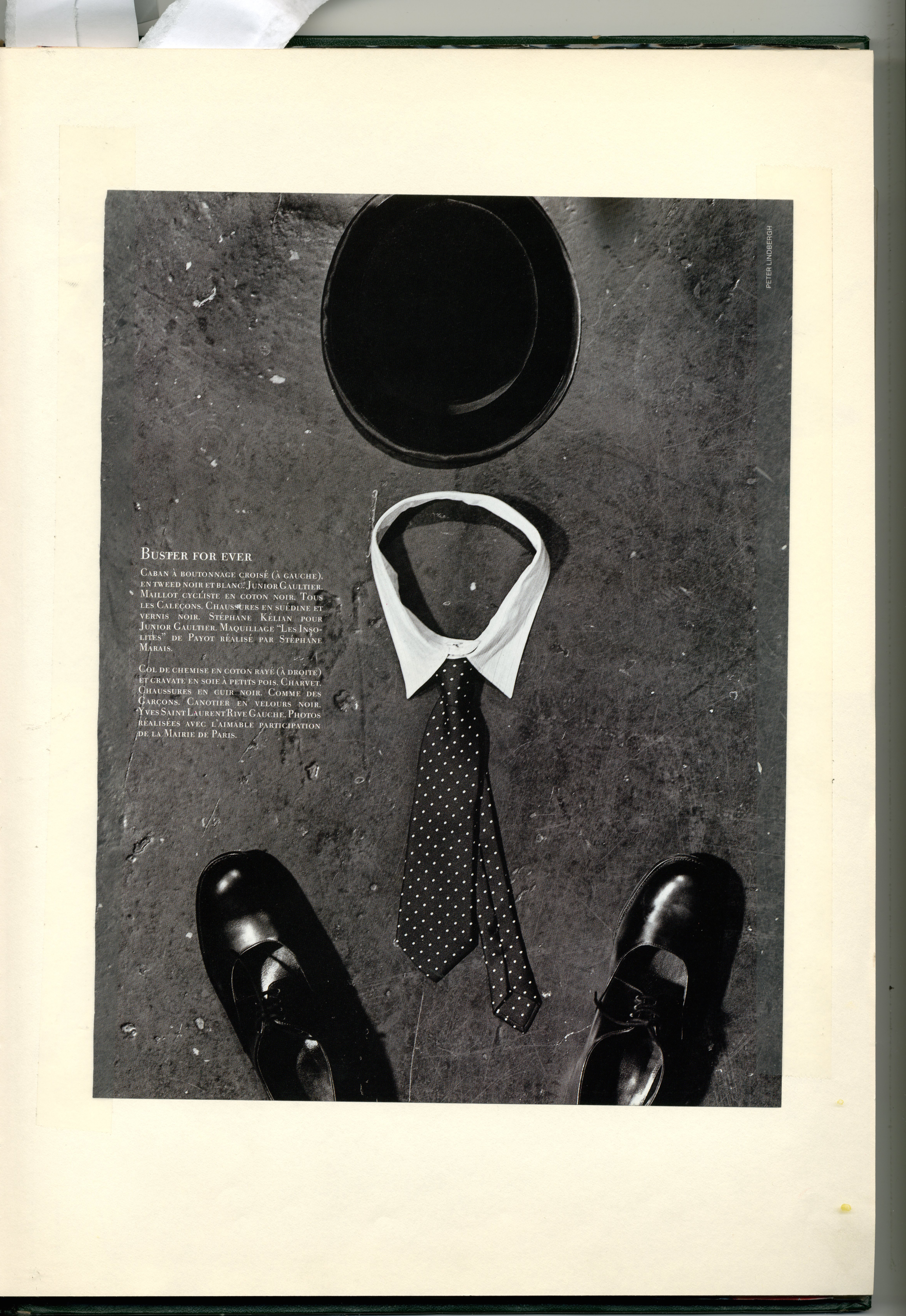 Dave Dye:Peter Lindbergh 'Hat & Shoes'