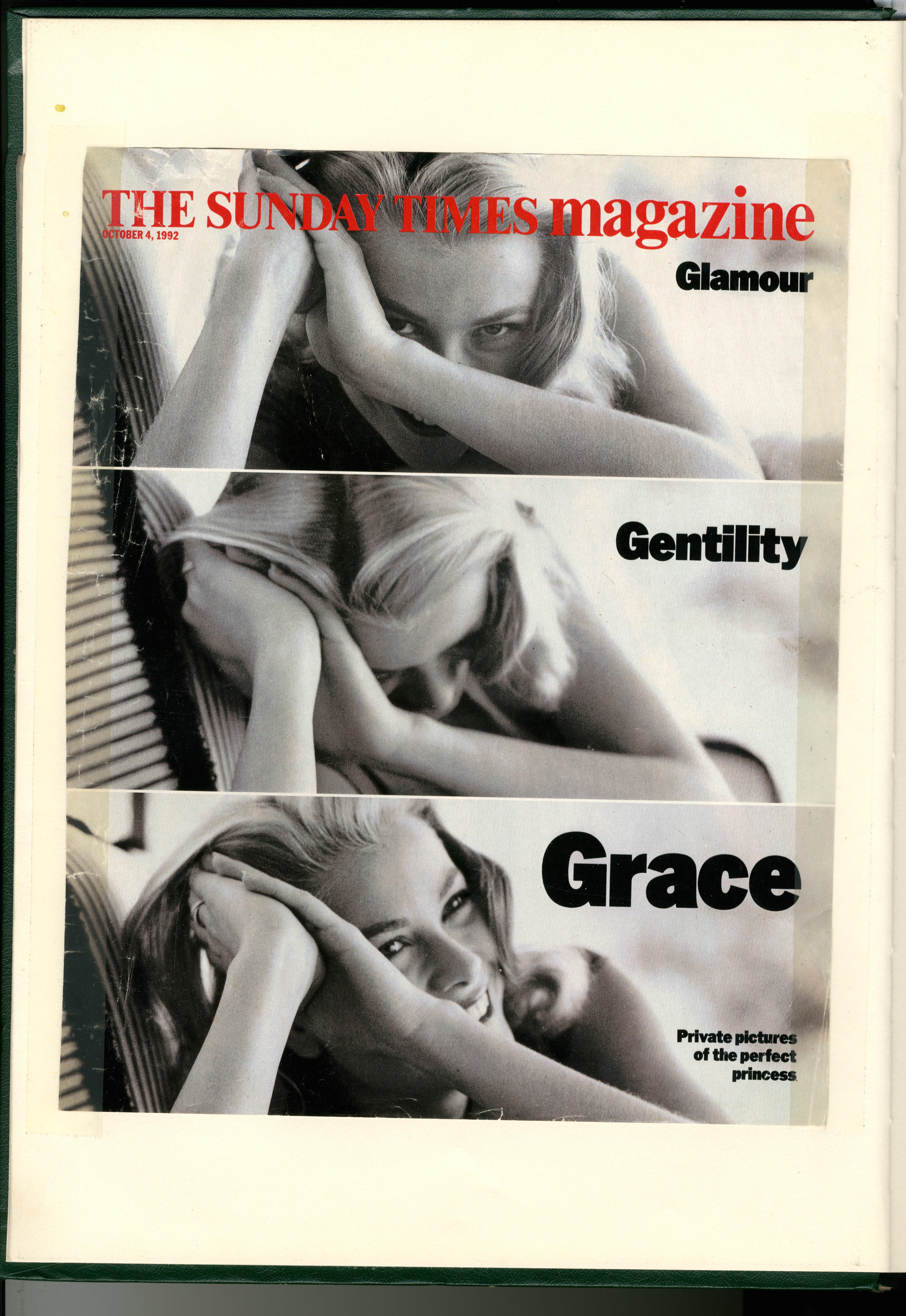 Dave Dye:Sunday Times Cover: Grace Kelly