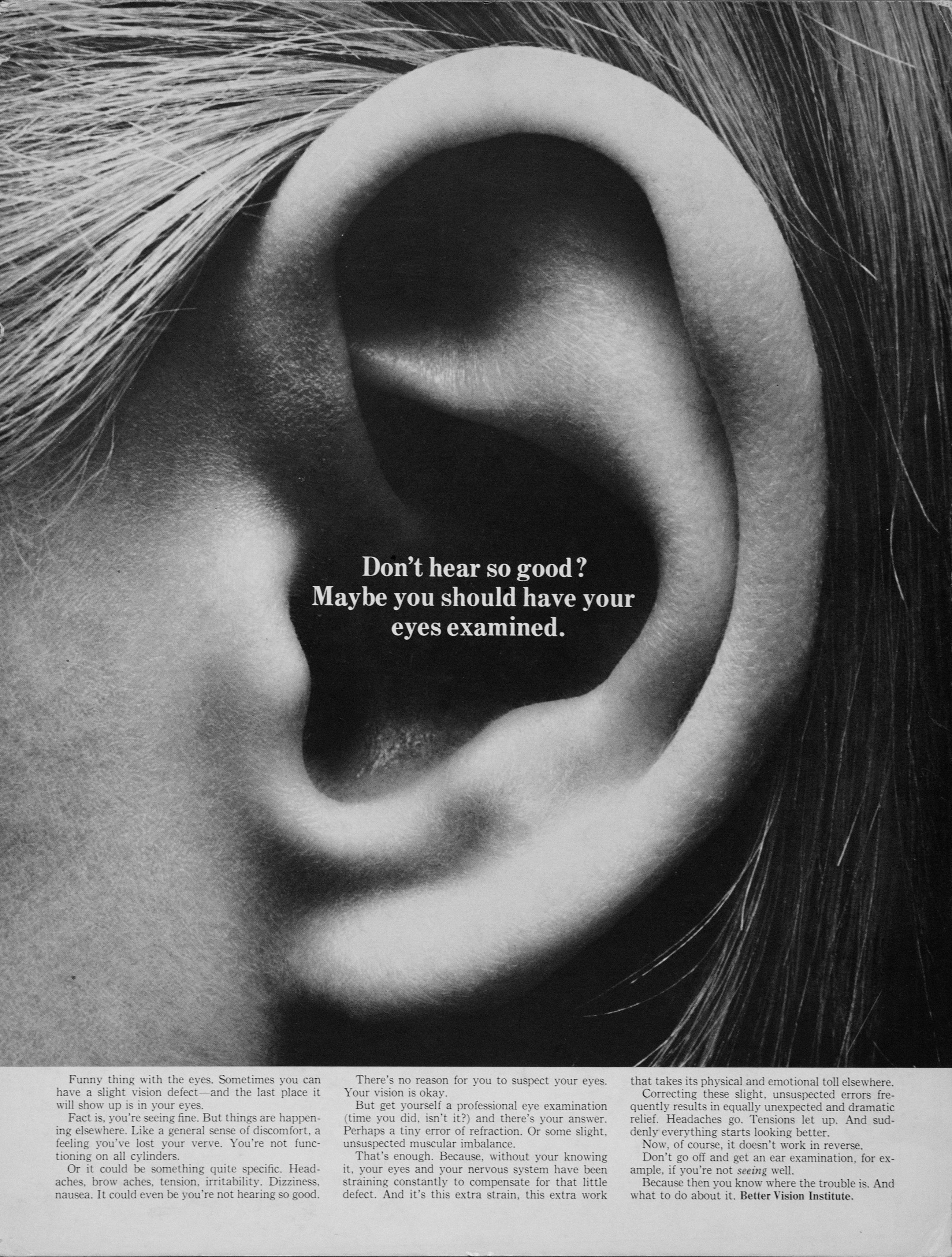 Better Vision Institute 'Ear' Len Sirowitz, DDB