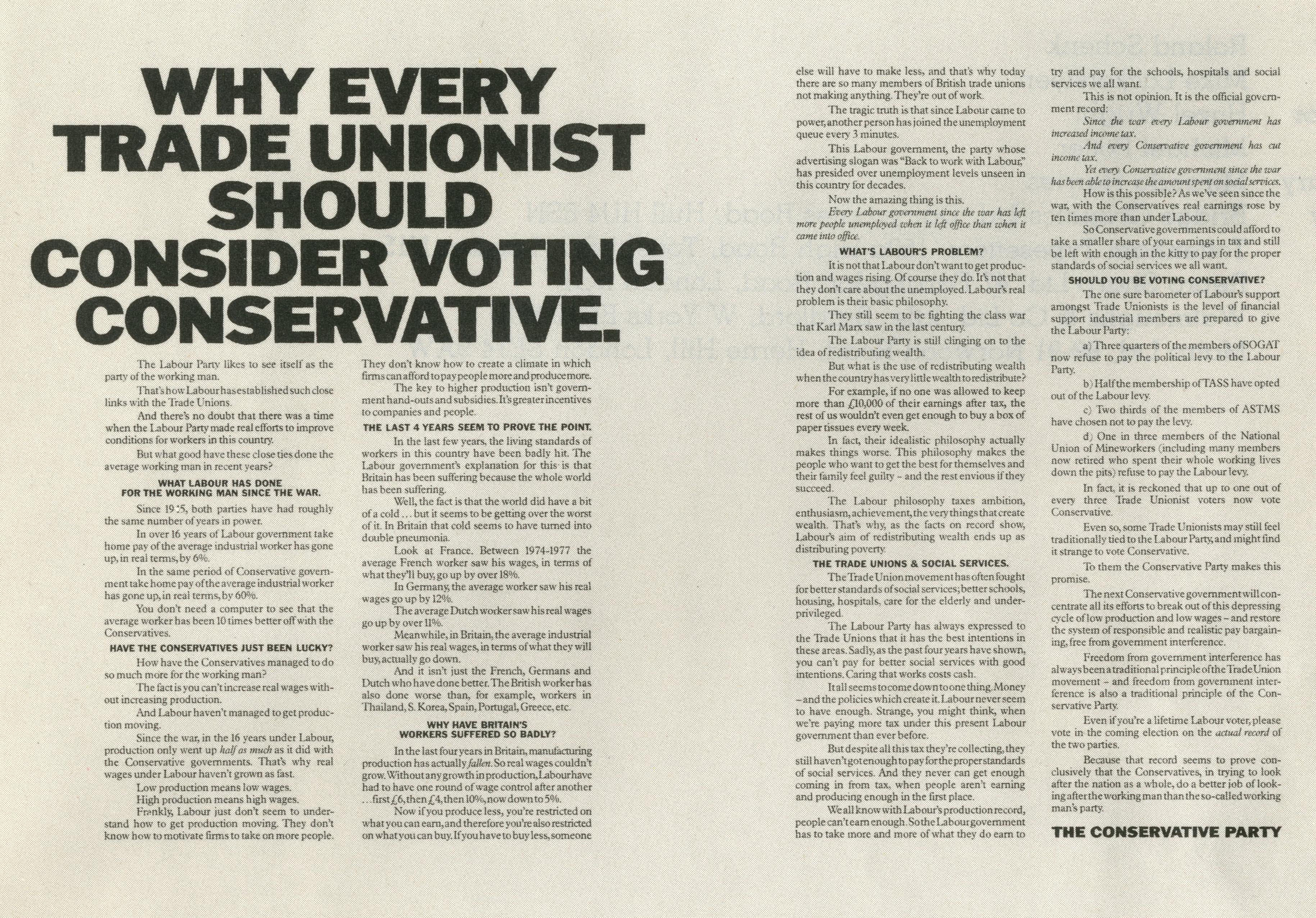 Jeremy Sinclair, Conservatives 'Trade Unionist' Saatchi & Saatchi-01