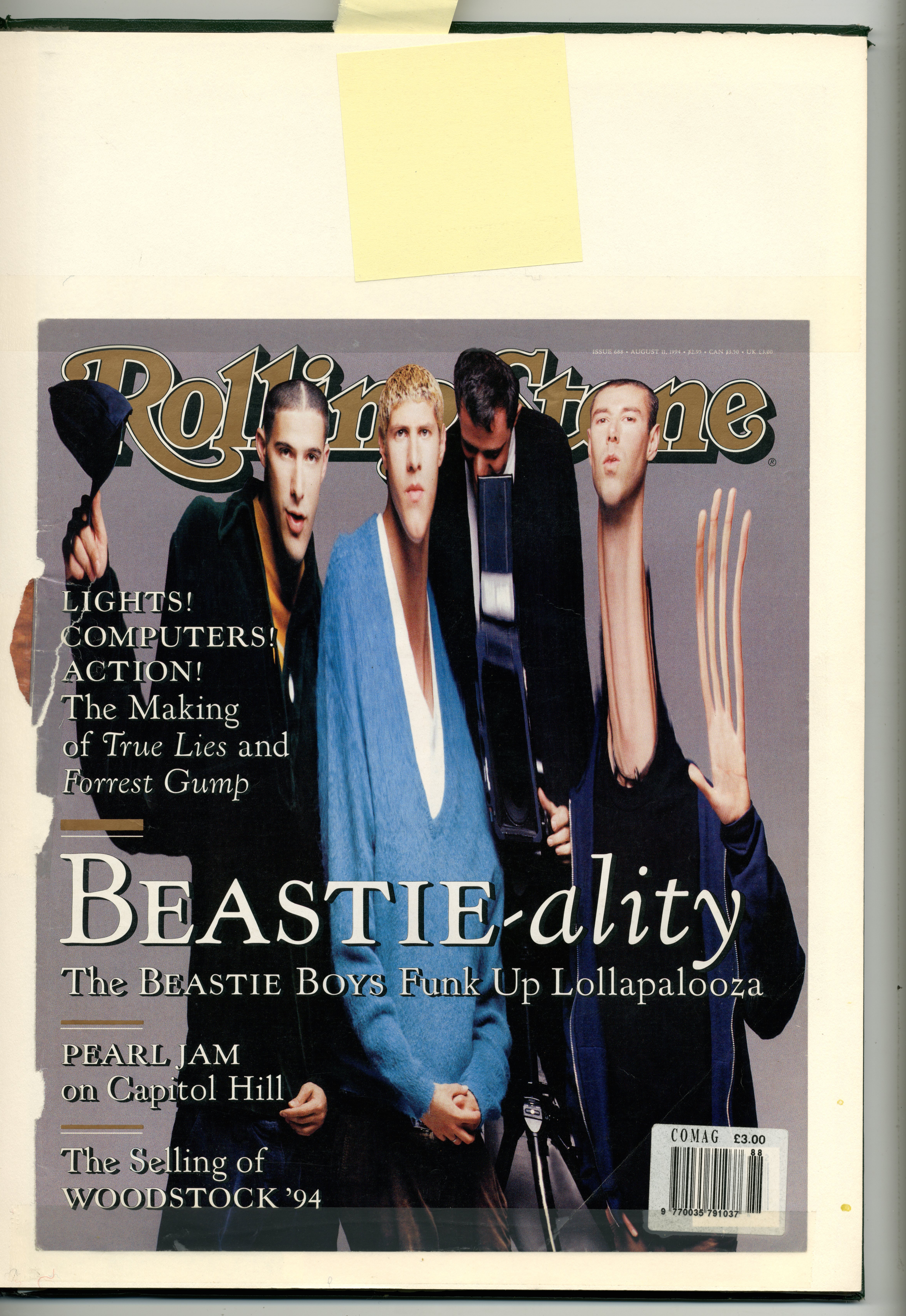 Rolling Stone Cover : Beastie Boys : Mark Siegler : Dave Dye