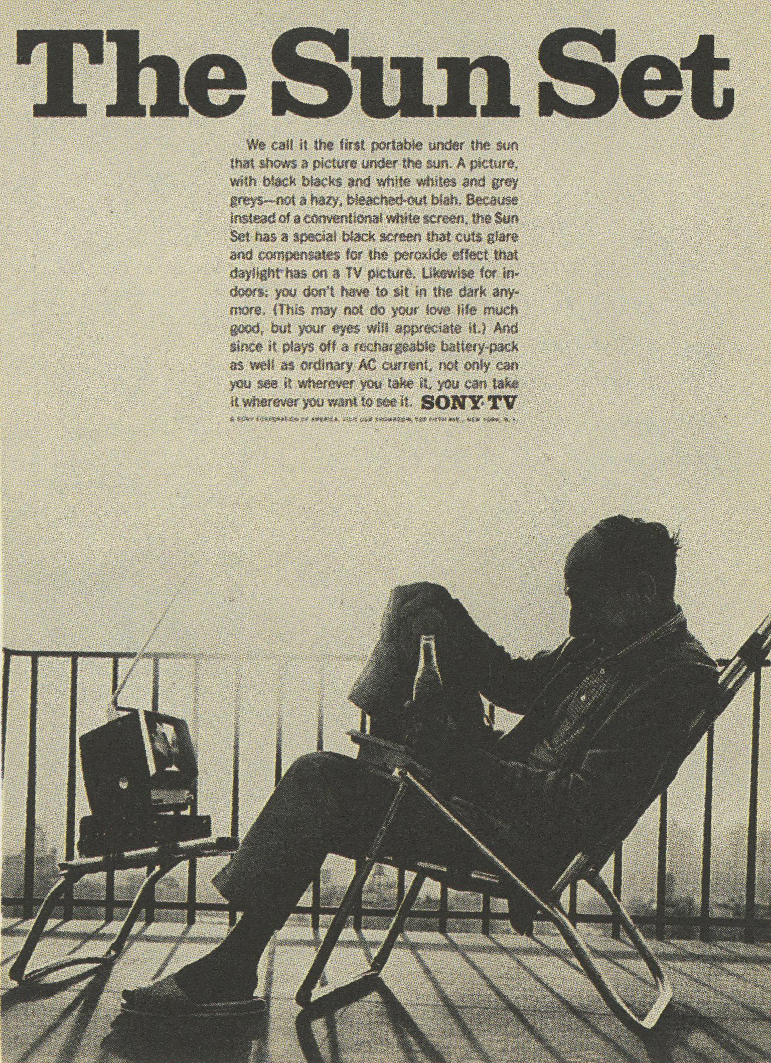 Sony 'Sun Set' Len Sirowitz, DDB-01