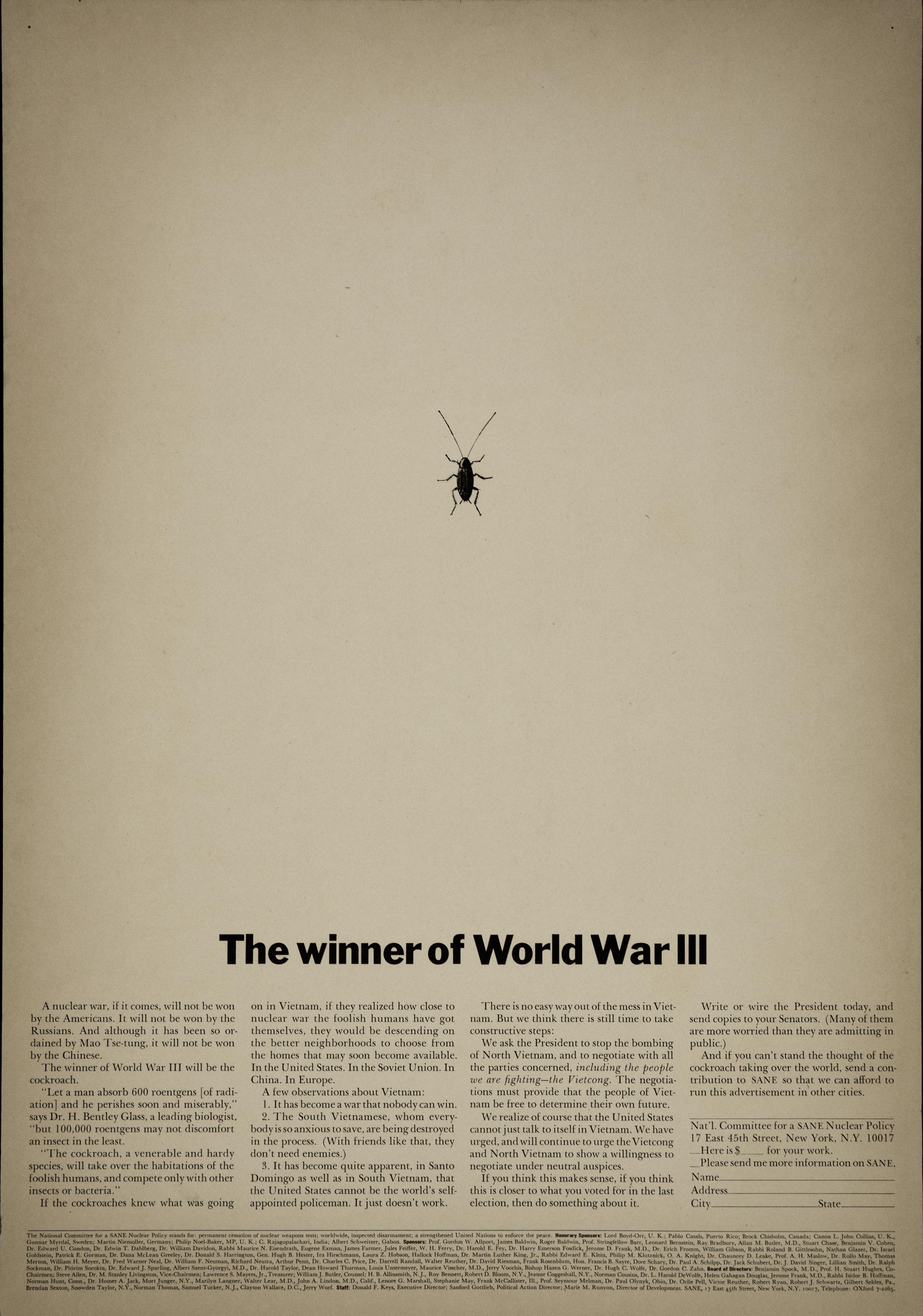 'The Winner of WW3' Len Sirowitz, DDB