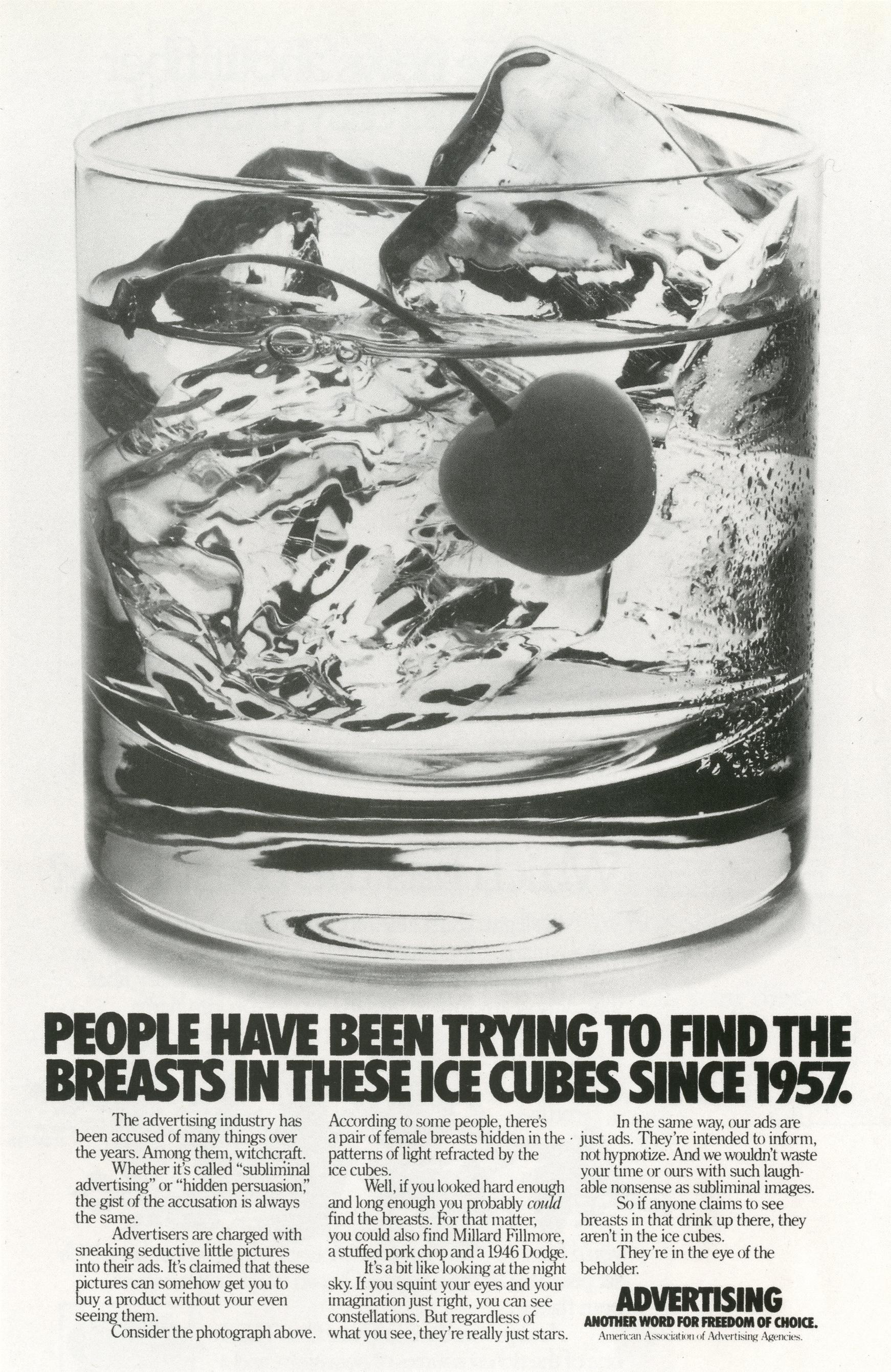Fallon McElligott, Advertising, 'Icecubes'-01