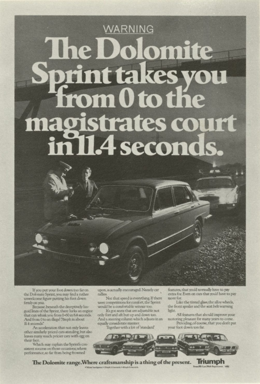 Jeremy Sinclair, 'Triumph -Magistrates', Saatchi's-01
