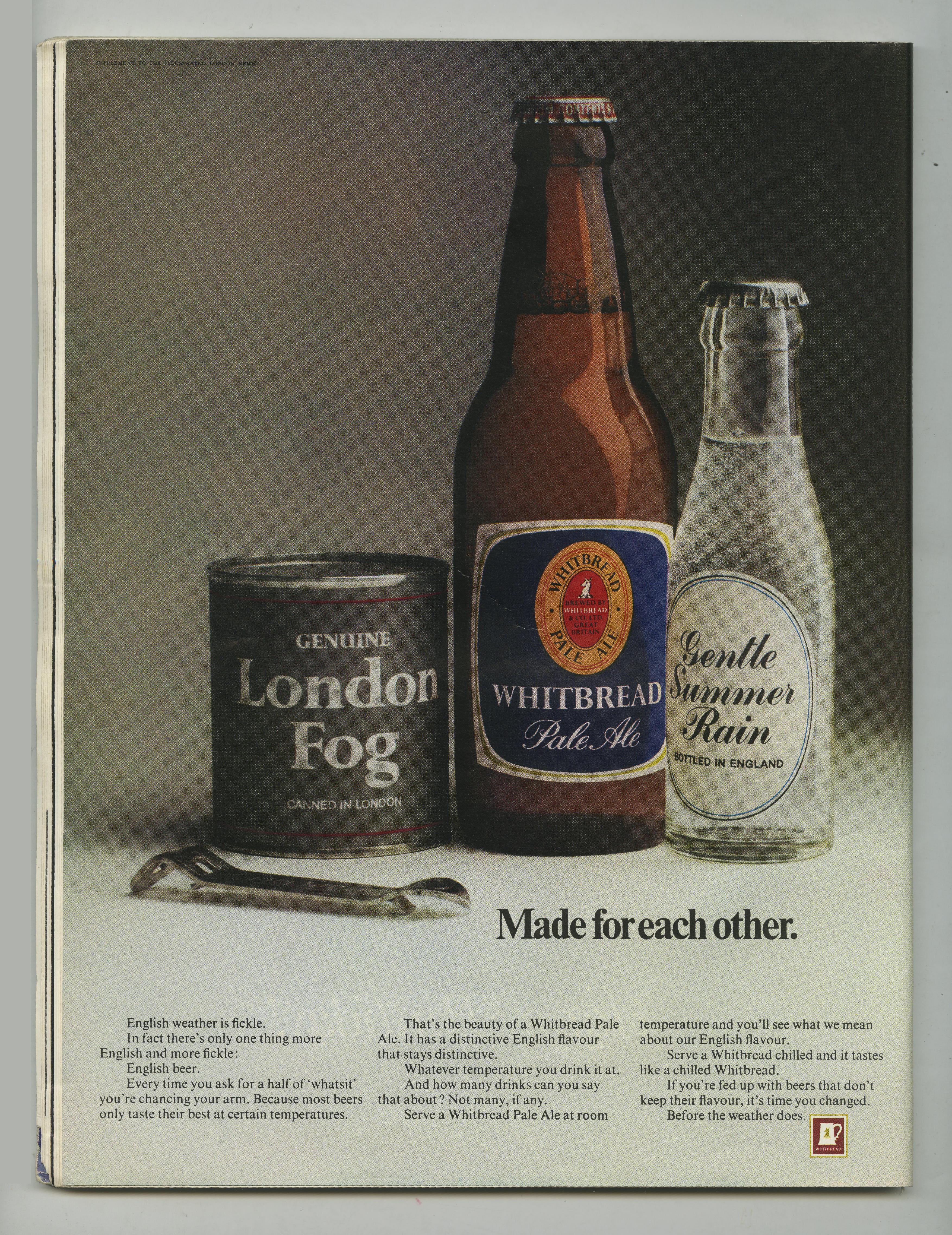 'London Fog', Whitbread, Alan Parker, CDP-01