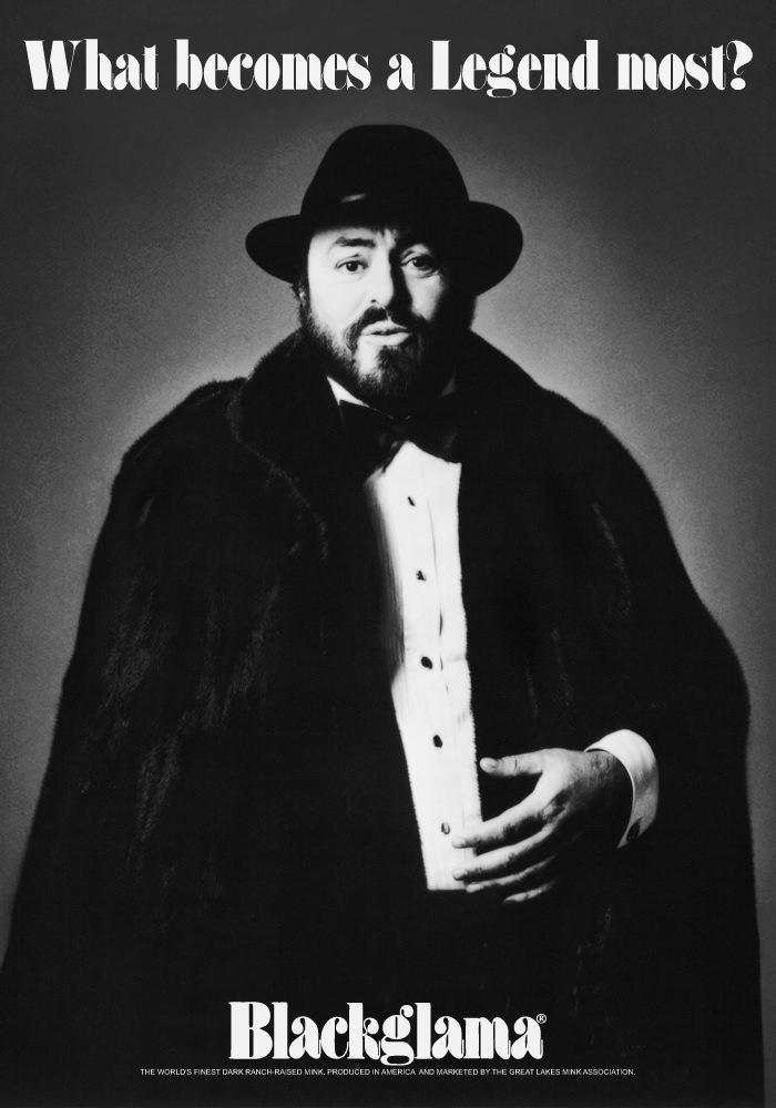 Blackgamma ad - 1981 luciano pavarotti