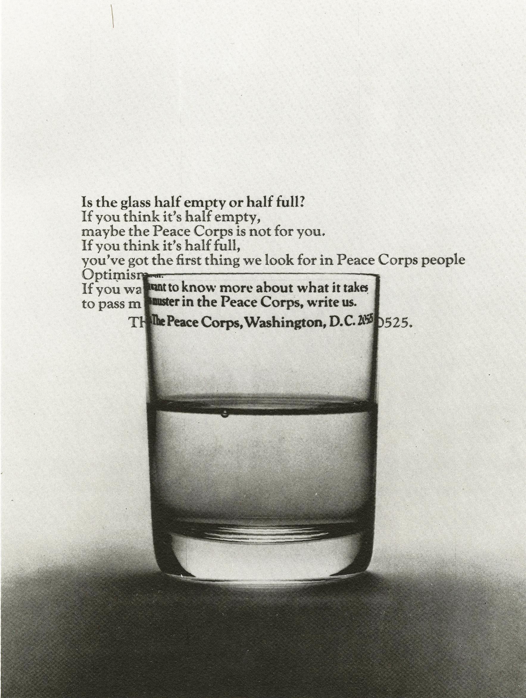 Steve Frankfurt, Peace Corps 'Glass'*