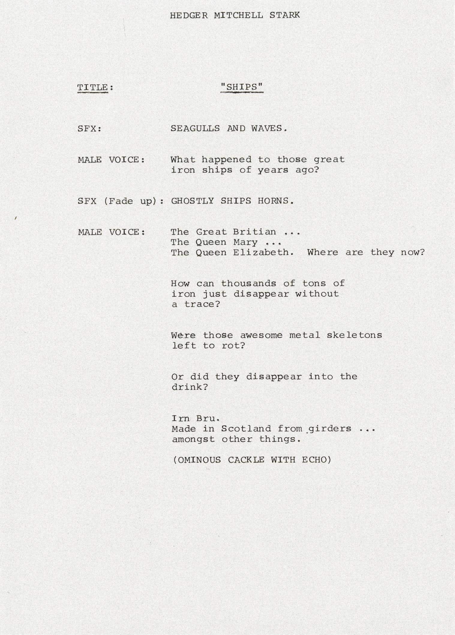 Jeff Stark, Irn Bru 'Snips' Radio, -01