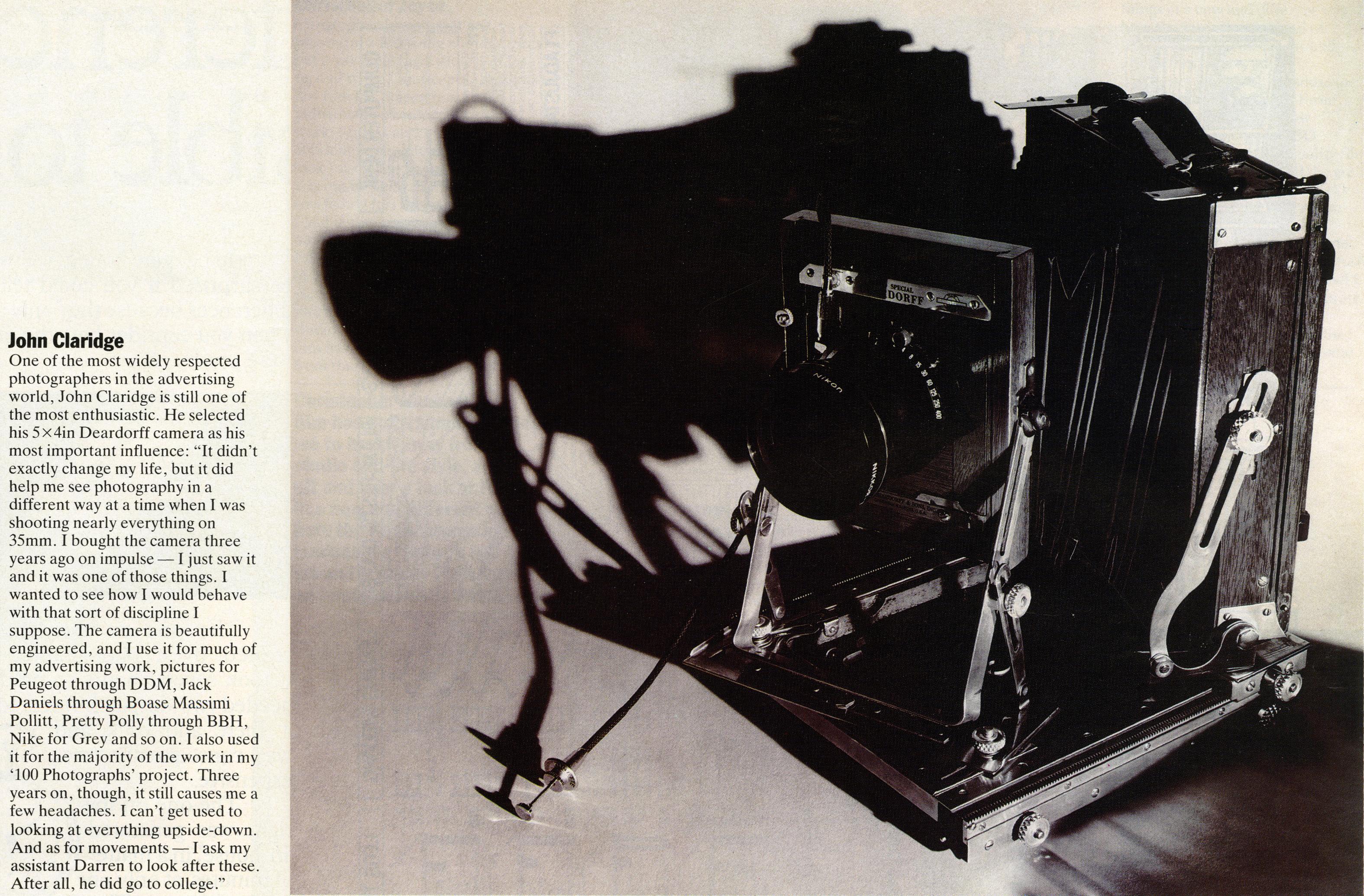 John Clarridge, Camera article-01