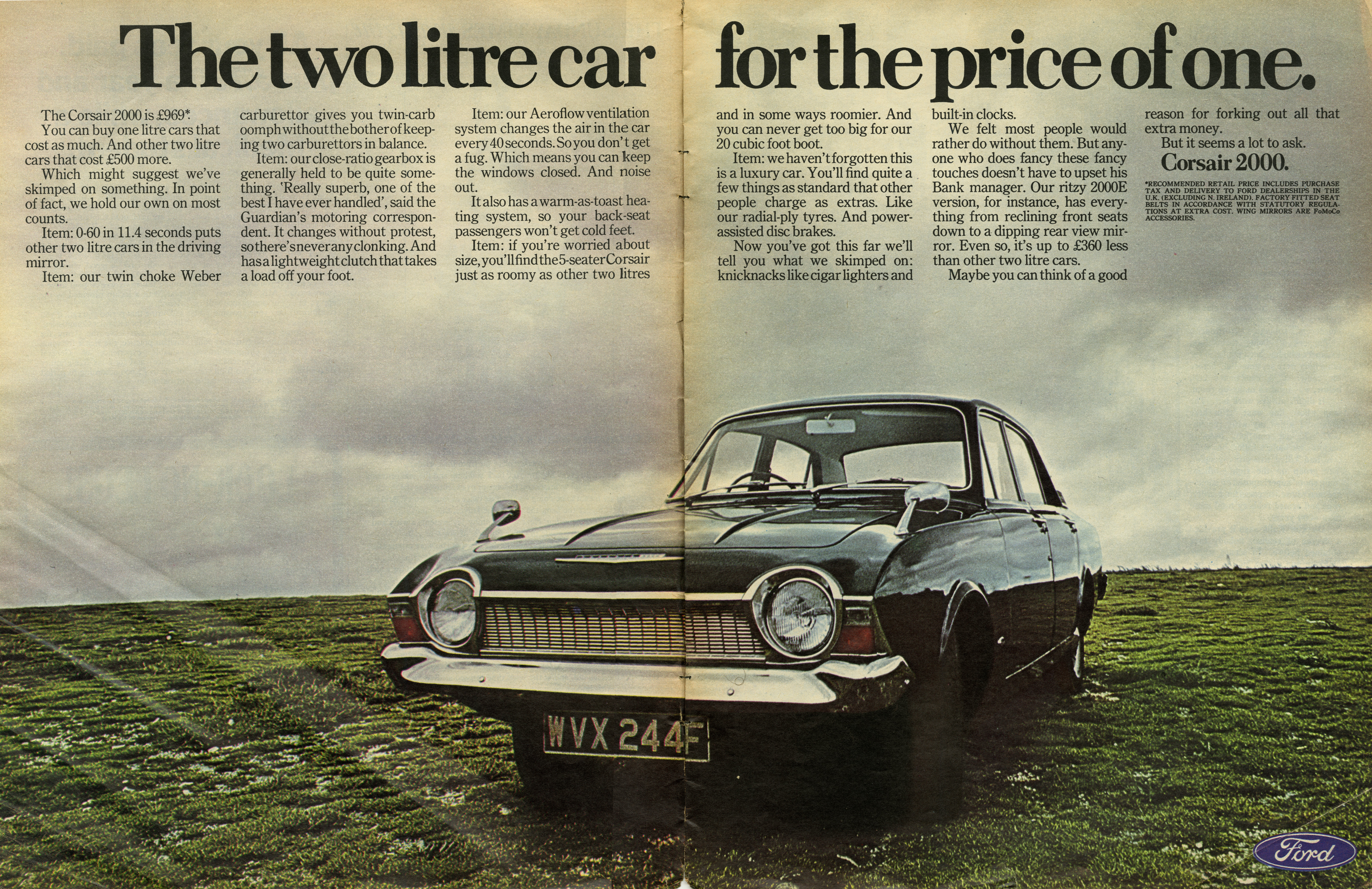 Max Forsythe, Ford 'Two For The Price', CDP--01