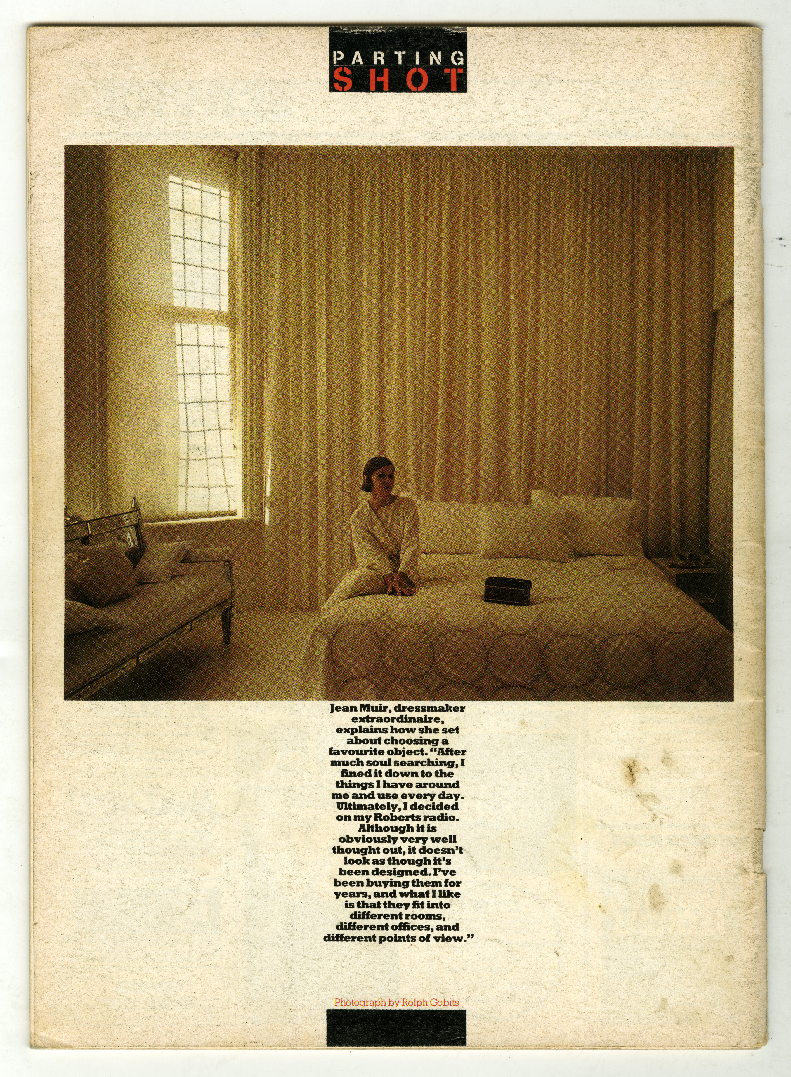 Rolph Gobits, Jean Muir, Direction Magazine-01