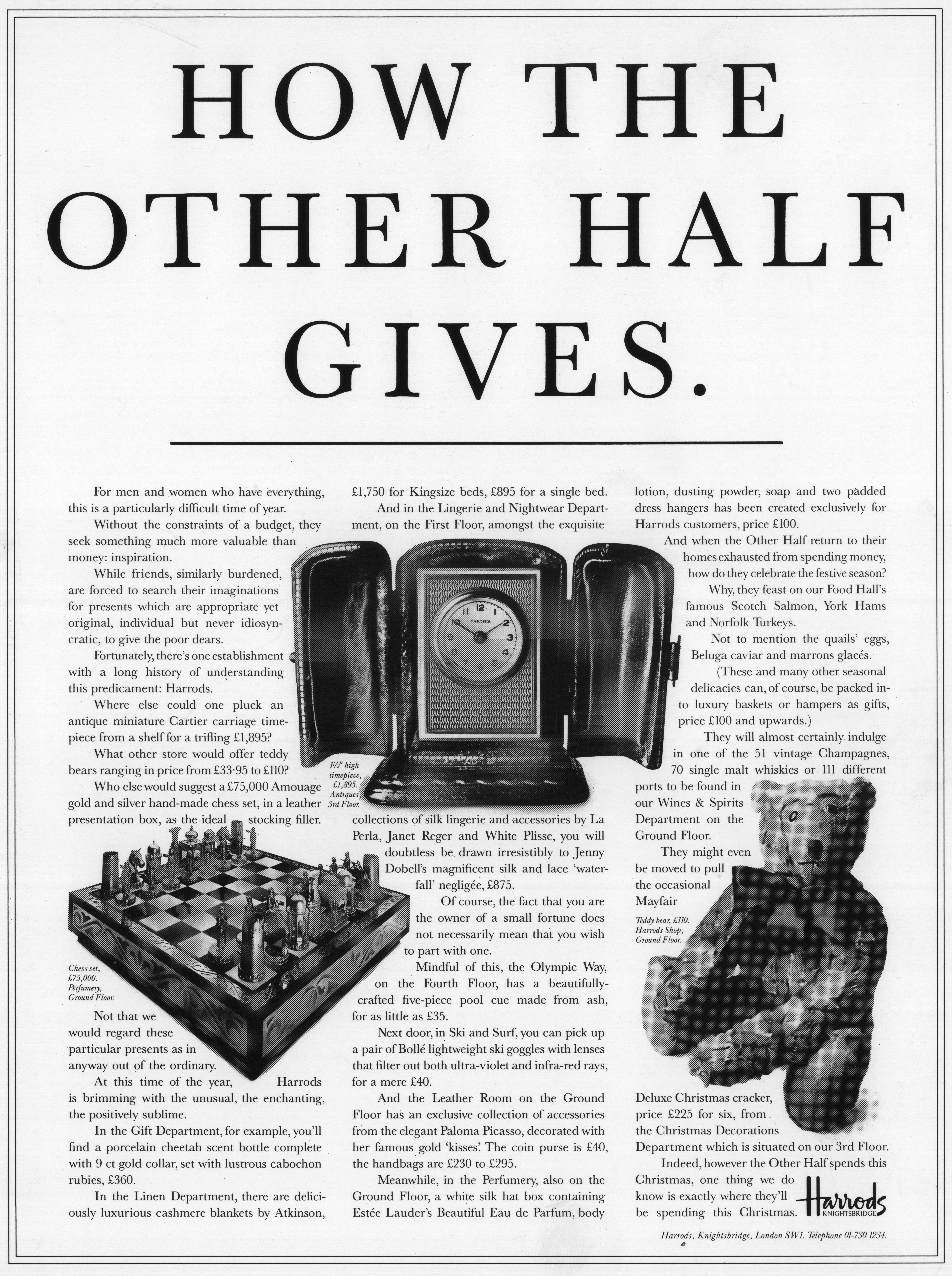 Tim Delaney, Harrod's 'Gives'