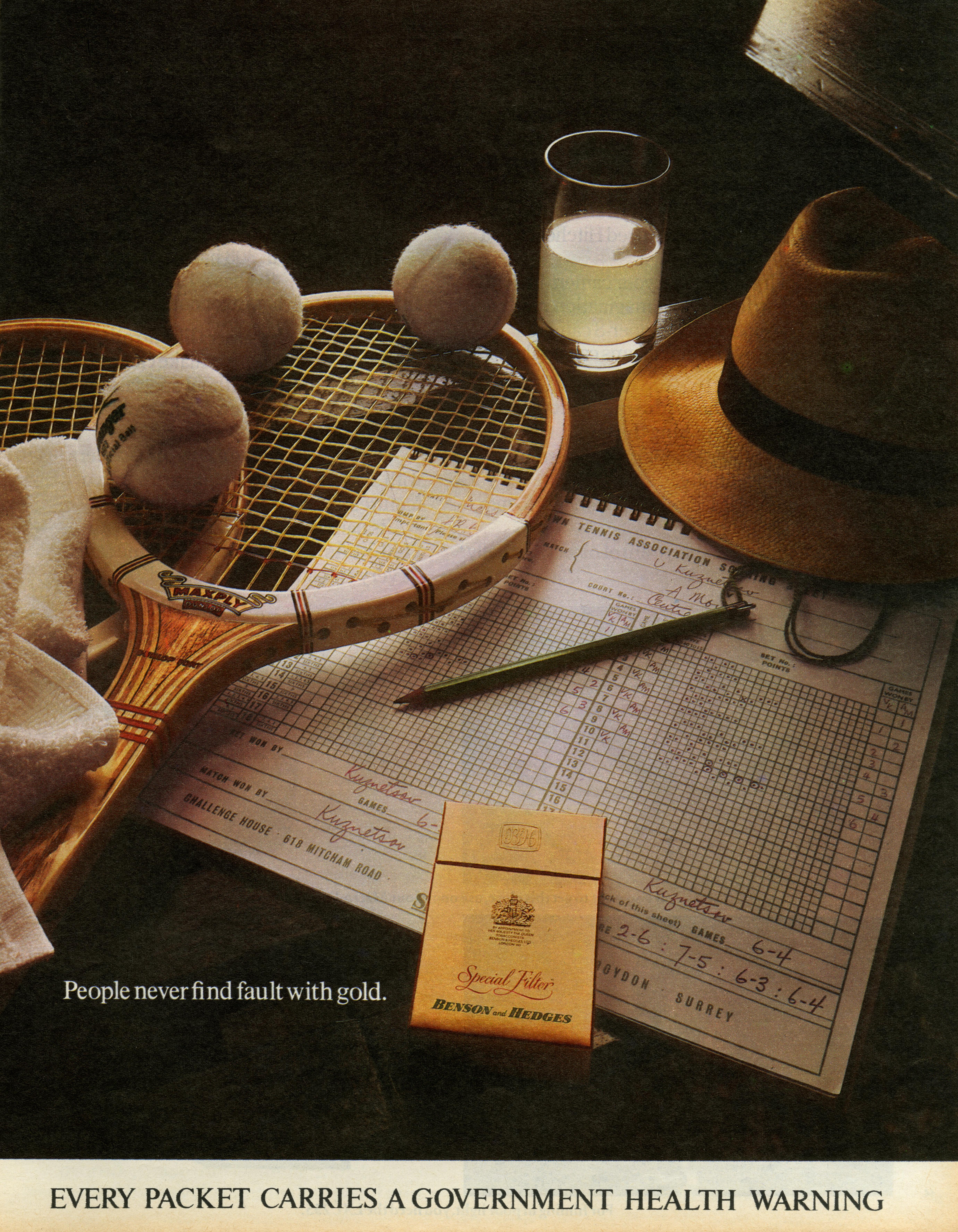B&H Gold Box 'Tennis, CDP-01
