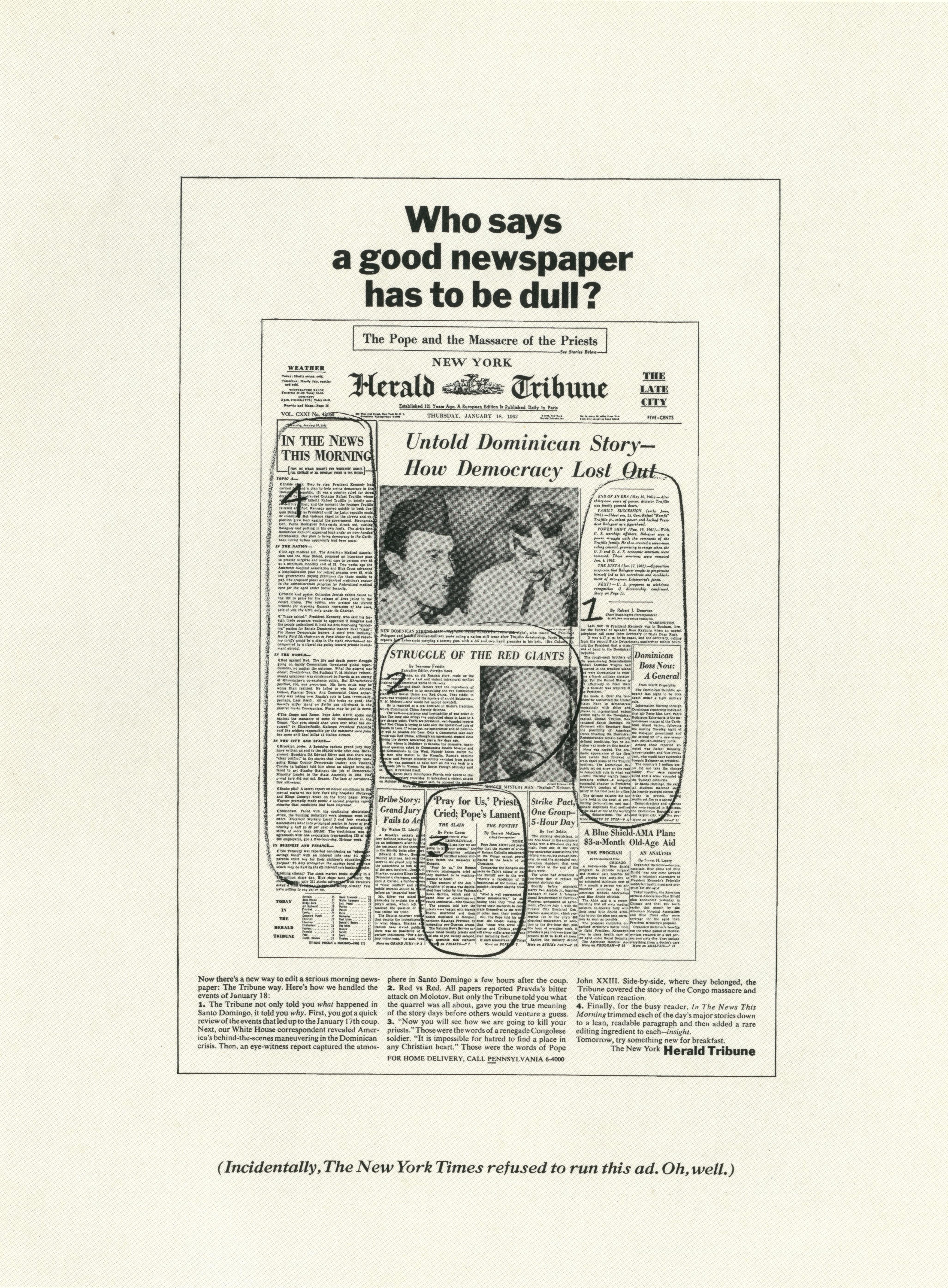 PKL2; Herald Tribune 'Dull:Scribble'