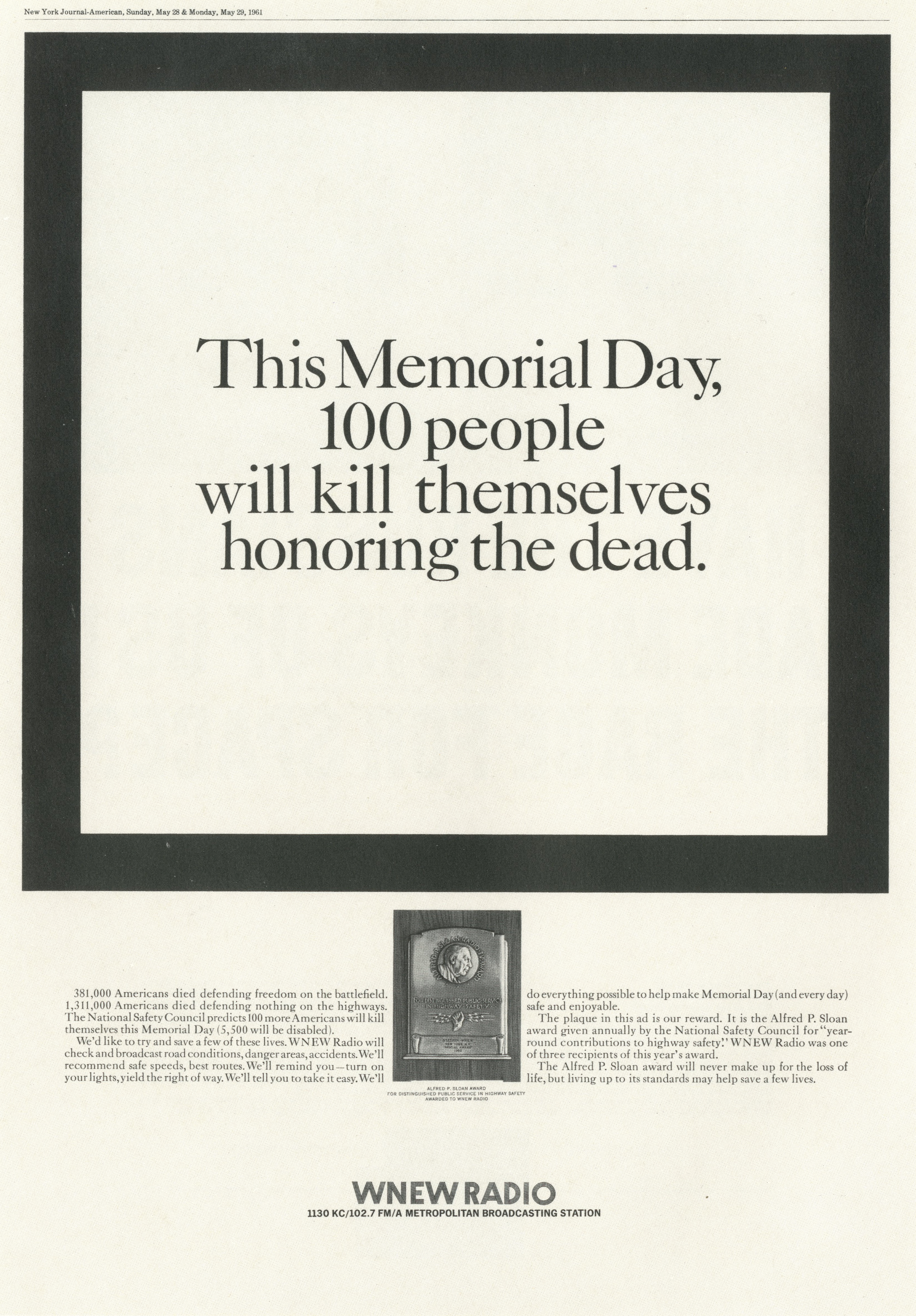 PKL2; WNEW Radio 'Memorial Day'-01
