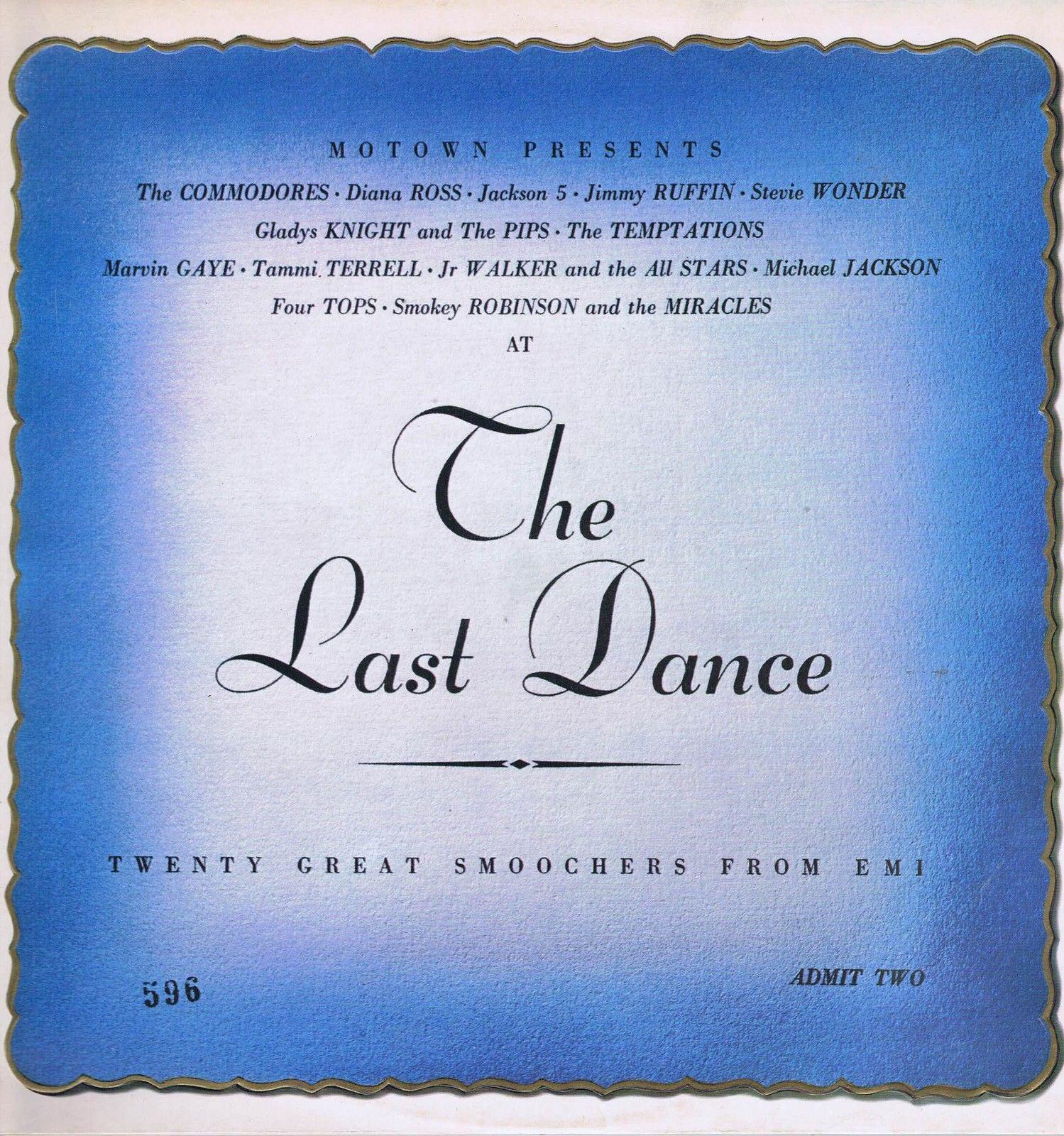 Various-The-Last-Dance-Motown-LP, John O'Driscoll:CDP