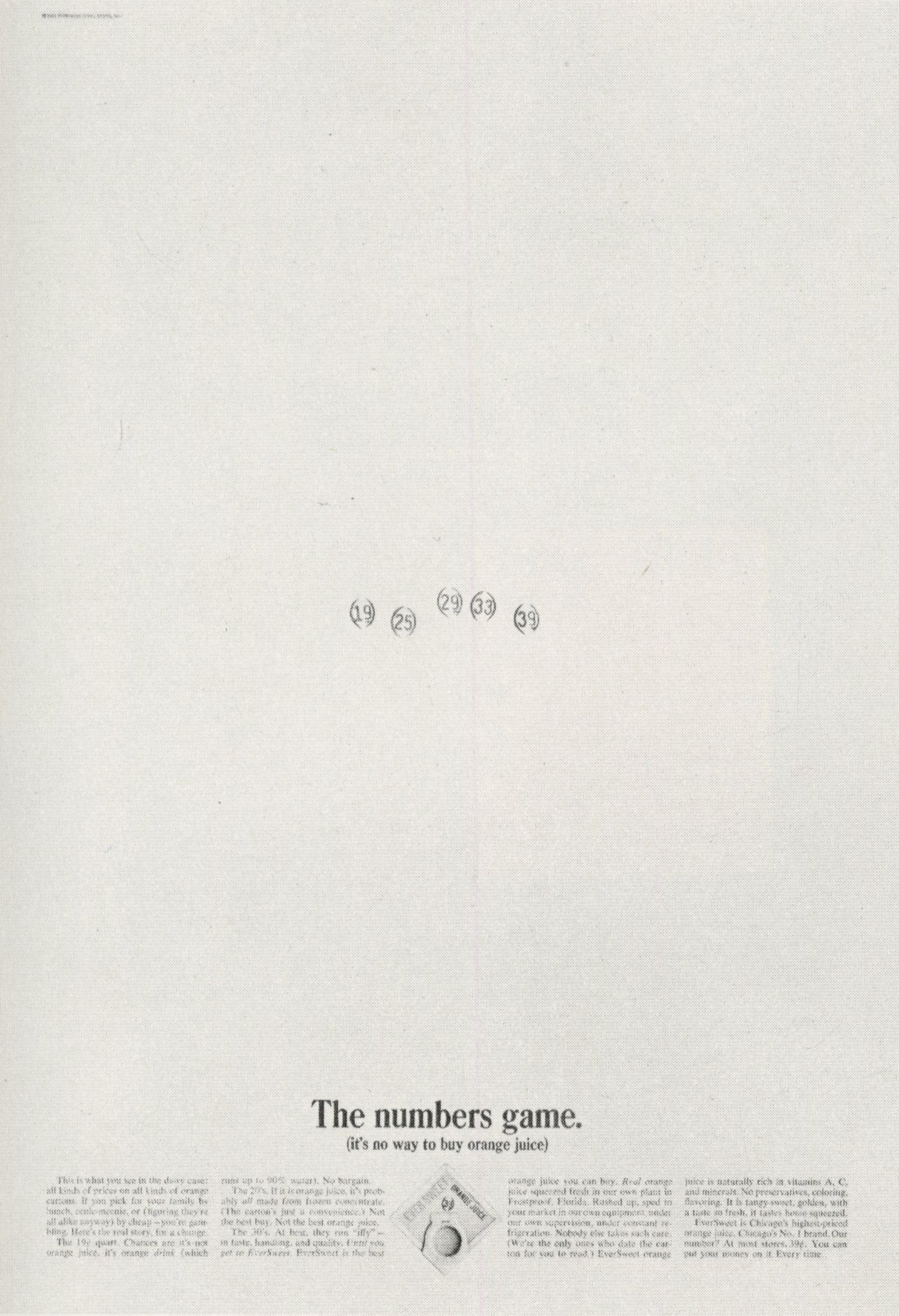 Eversweet Orange 'Numbers', Sid Myers, DDB NY-01