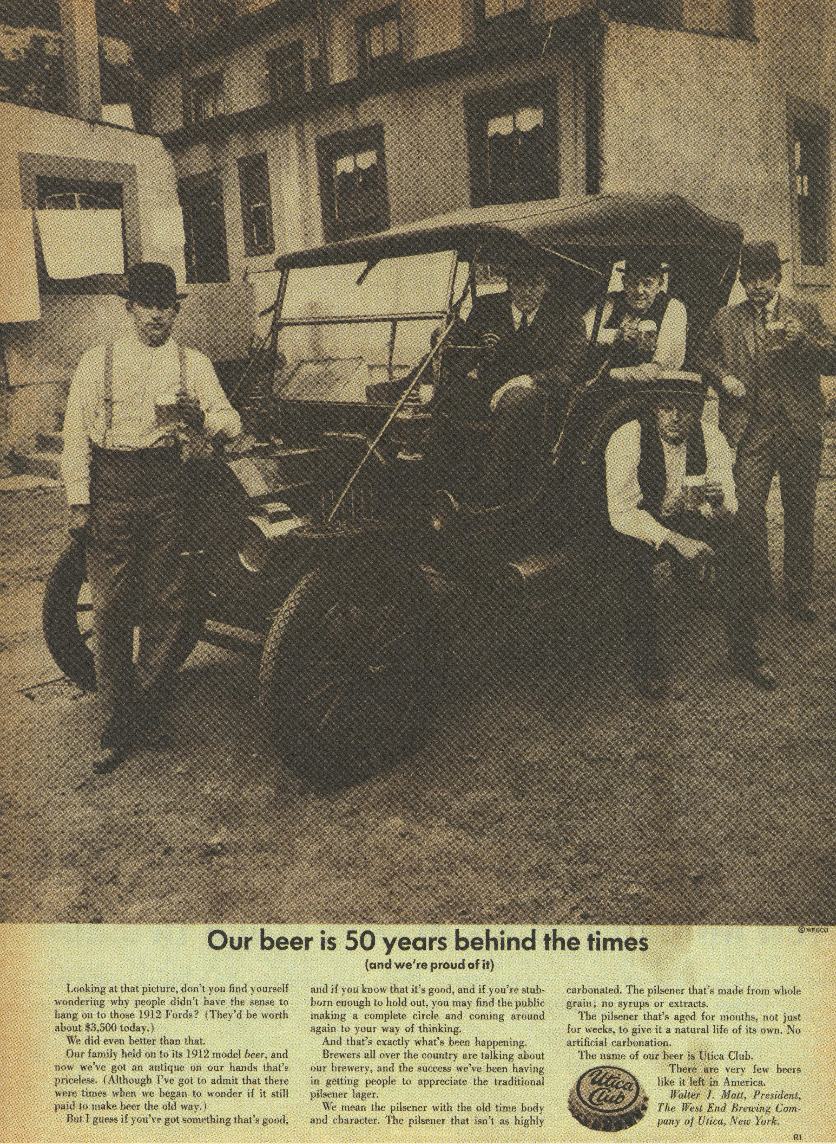 Utica Beer '50 Years', Sid Myers, DDB NY-01
