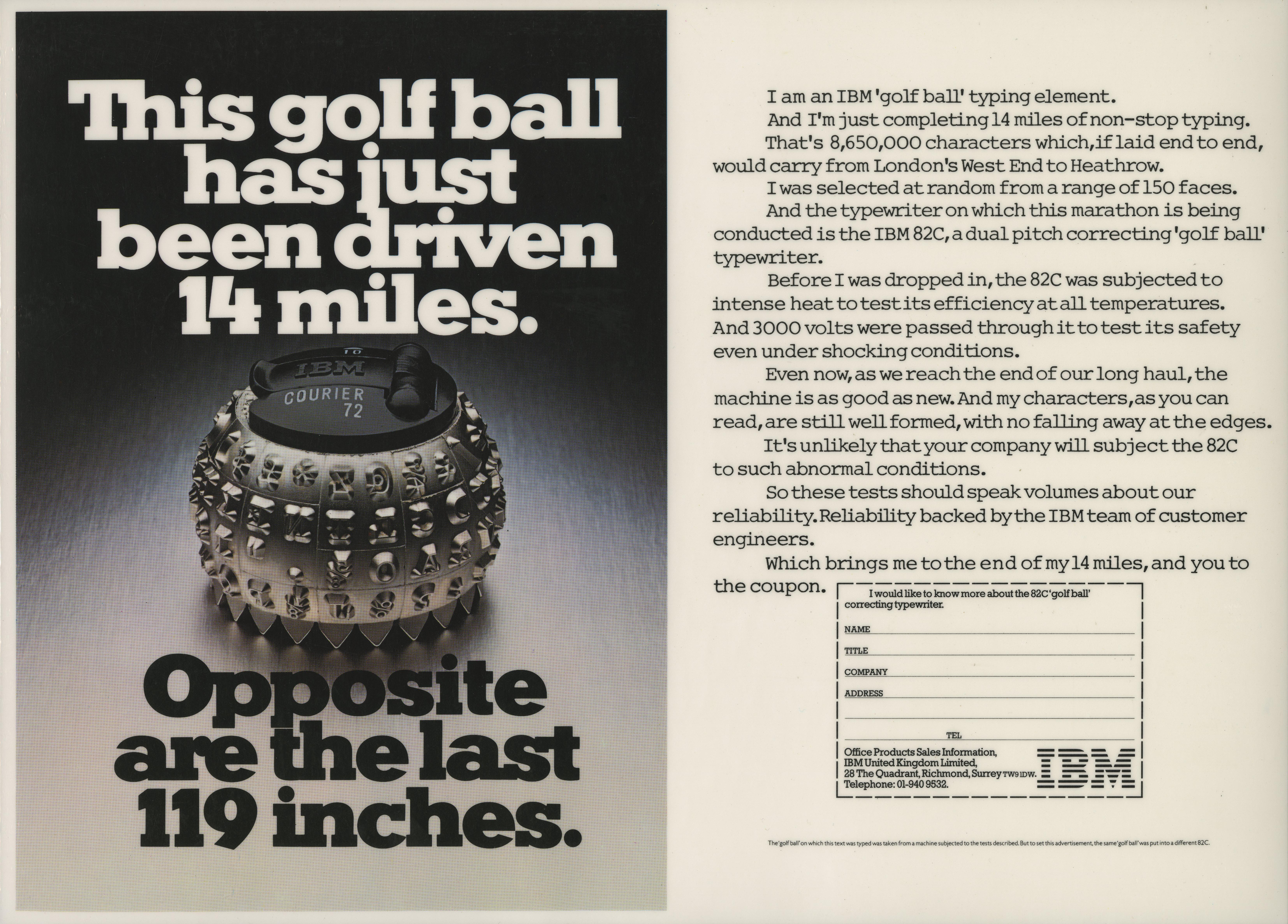 IBM - 'Golfball', Dave Wakefield, Saatchi-01