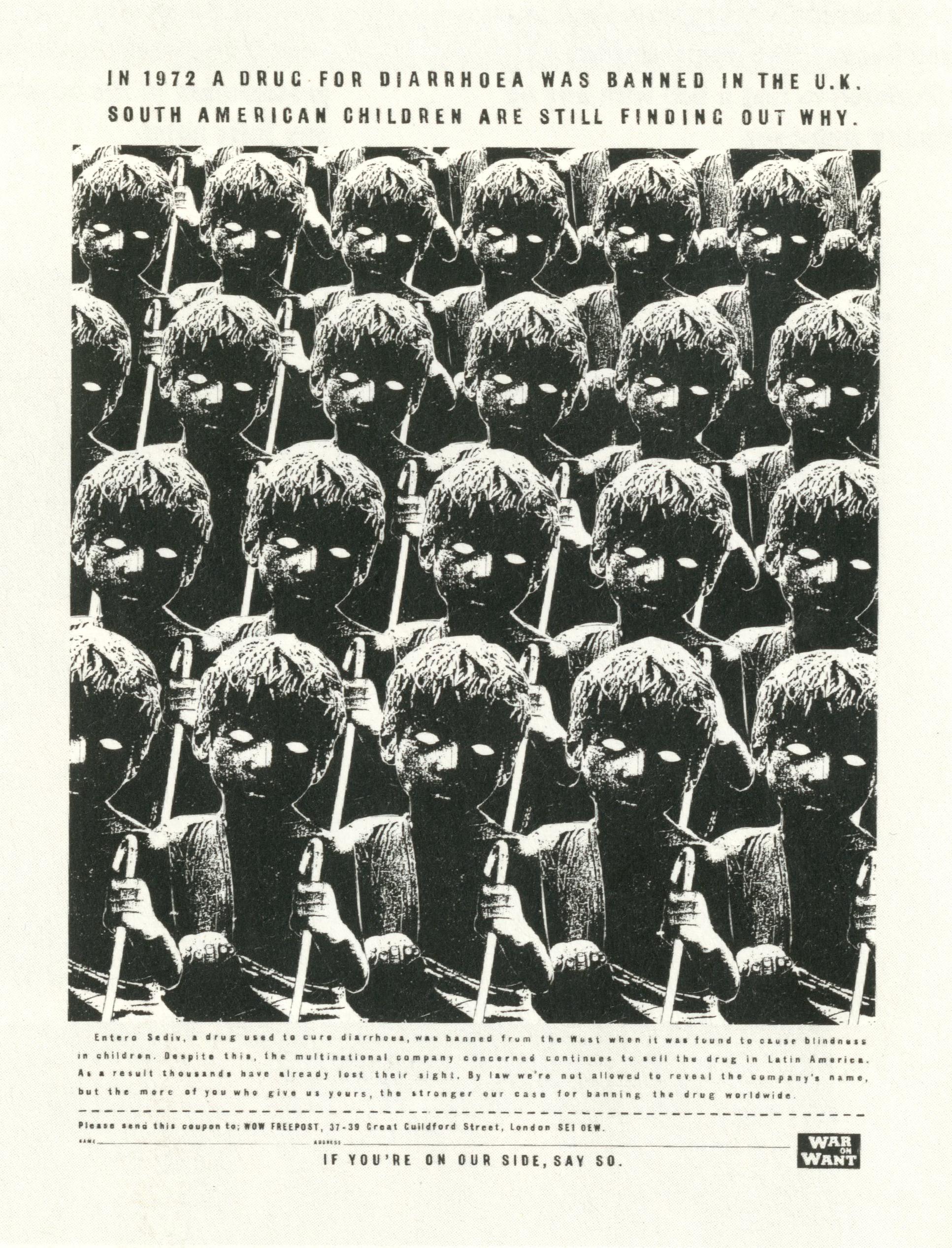 War On Want - '1972', Dave Wakefield, Tony Davidson, BMP:DDB