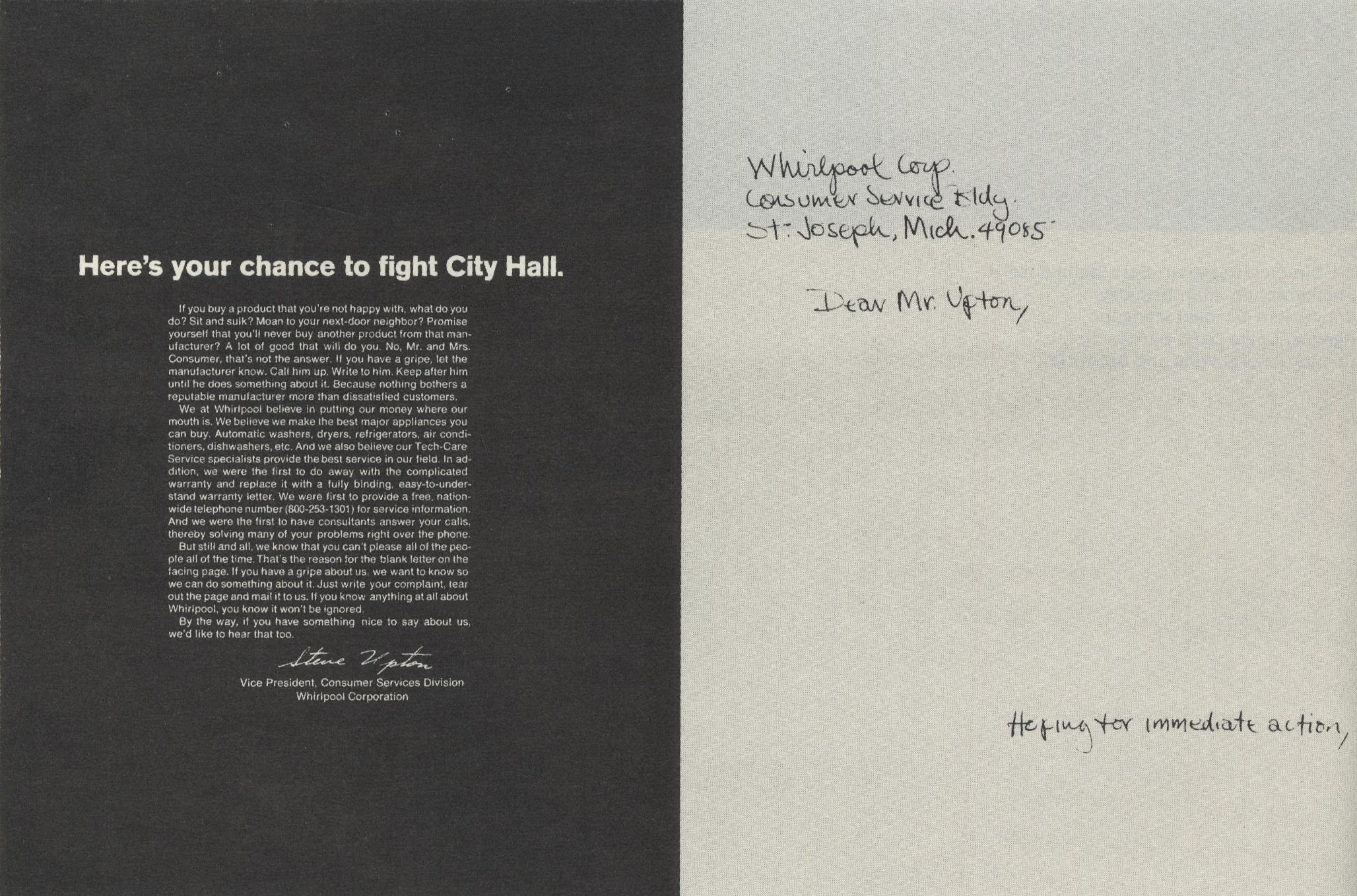 Whirlpool 'Letter', Sid Myers:Evan Stark, DDN NY