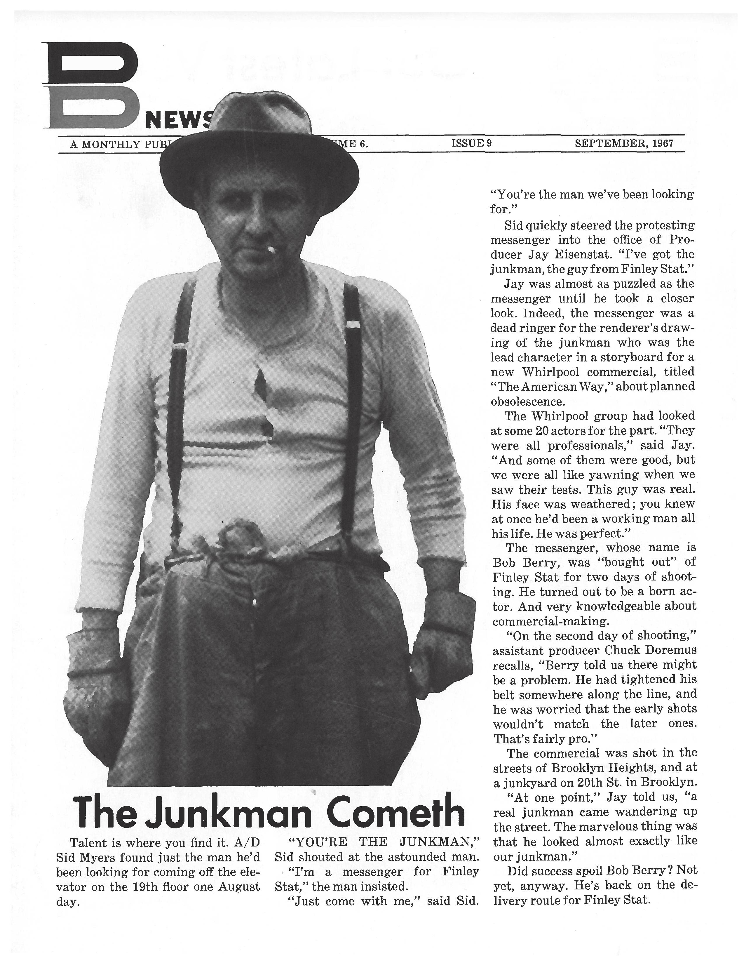 DDB Cover 'Junk Man', Sid Myers