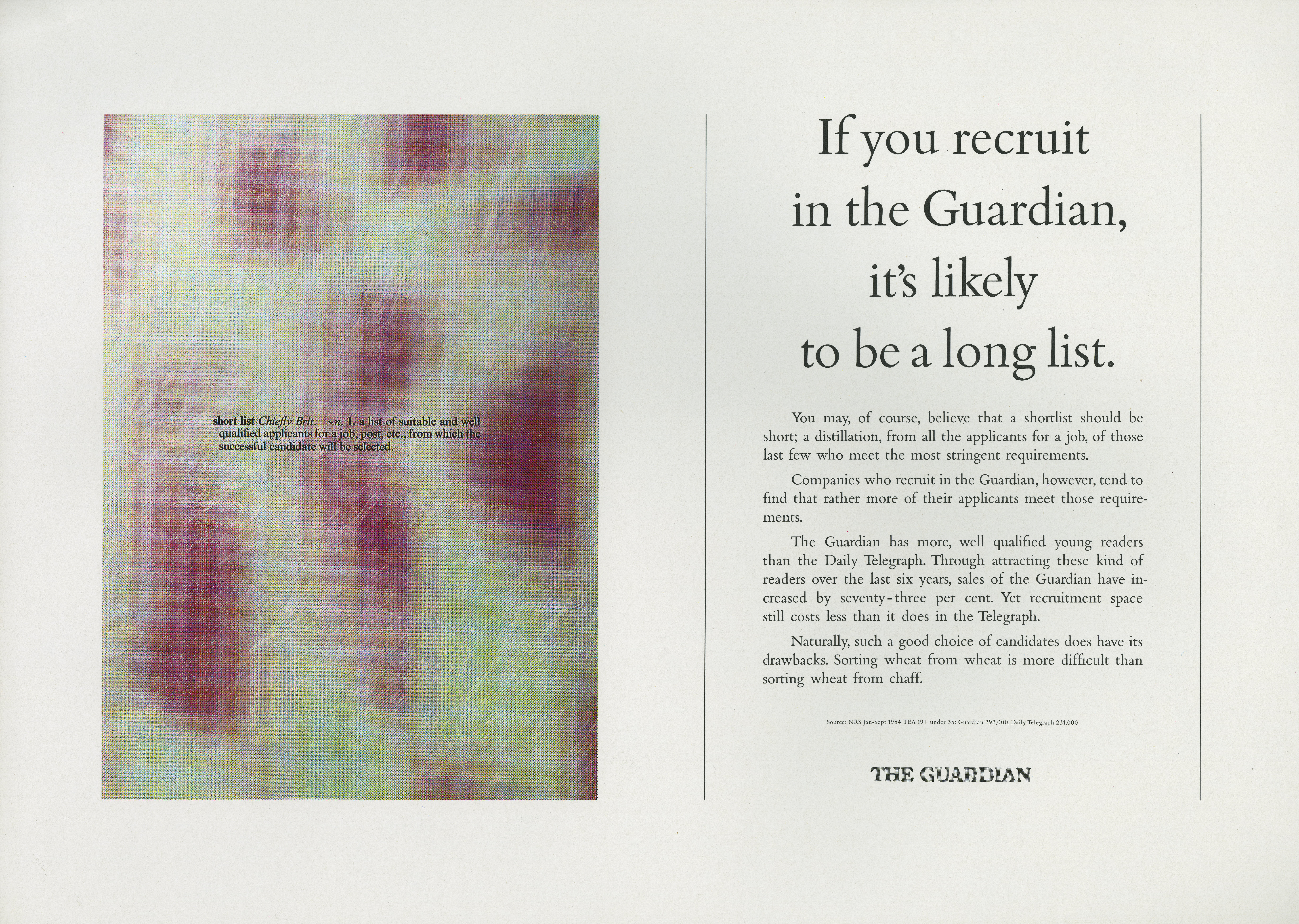 The Guardian 'Short List', Dave Wakefield, BMP-01