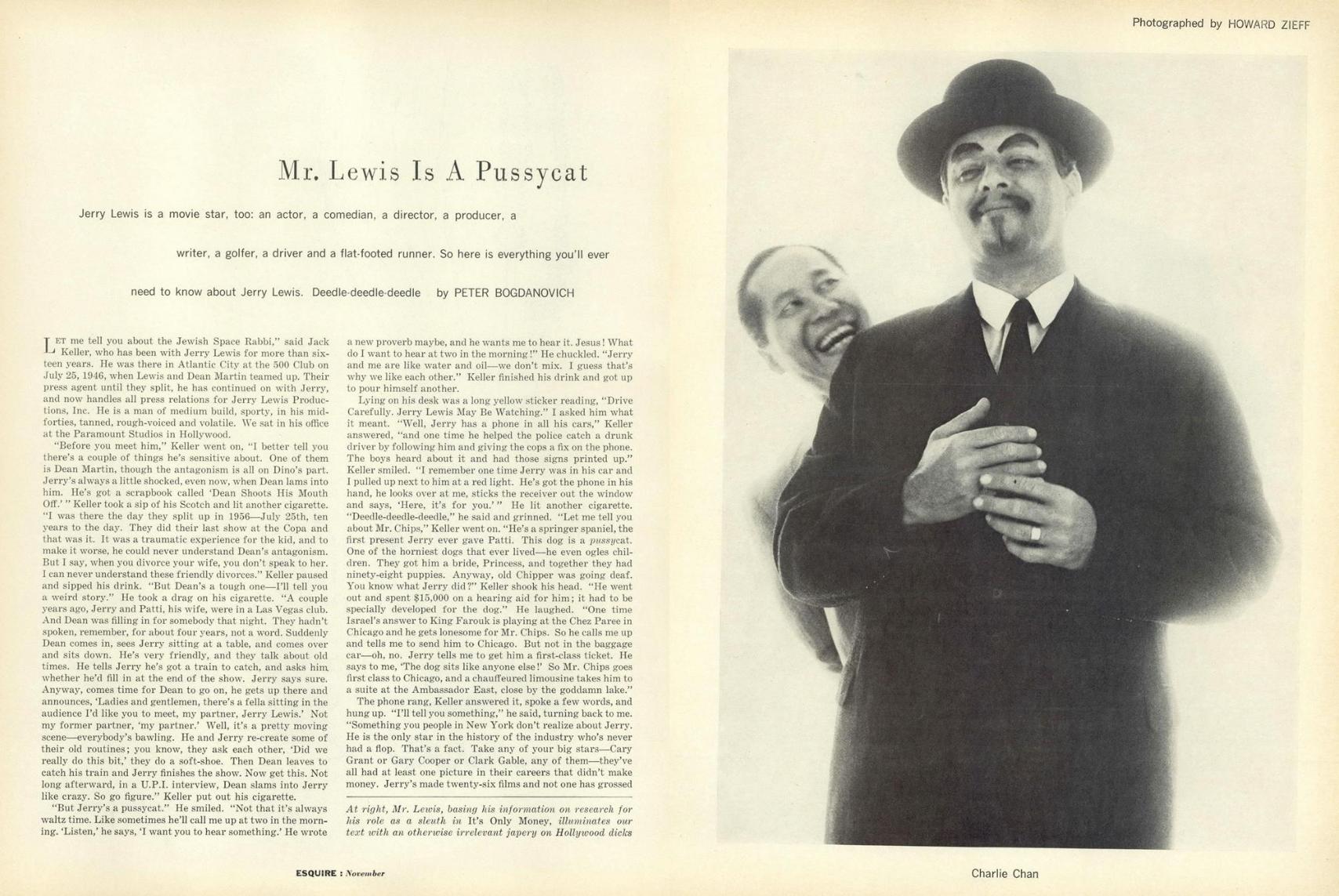 Howard Zieff 'Jerry Lewis 1', Esquire