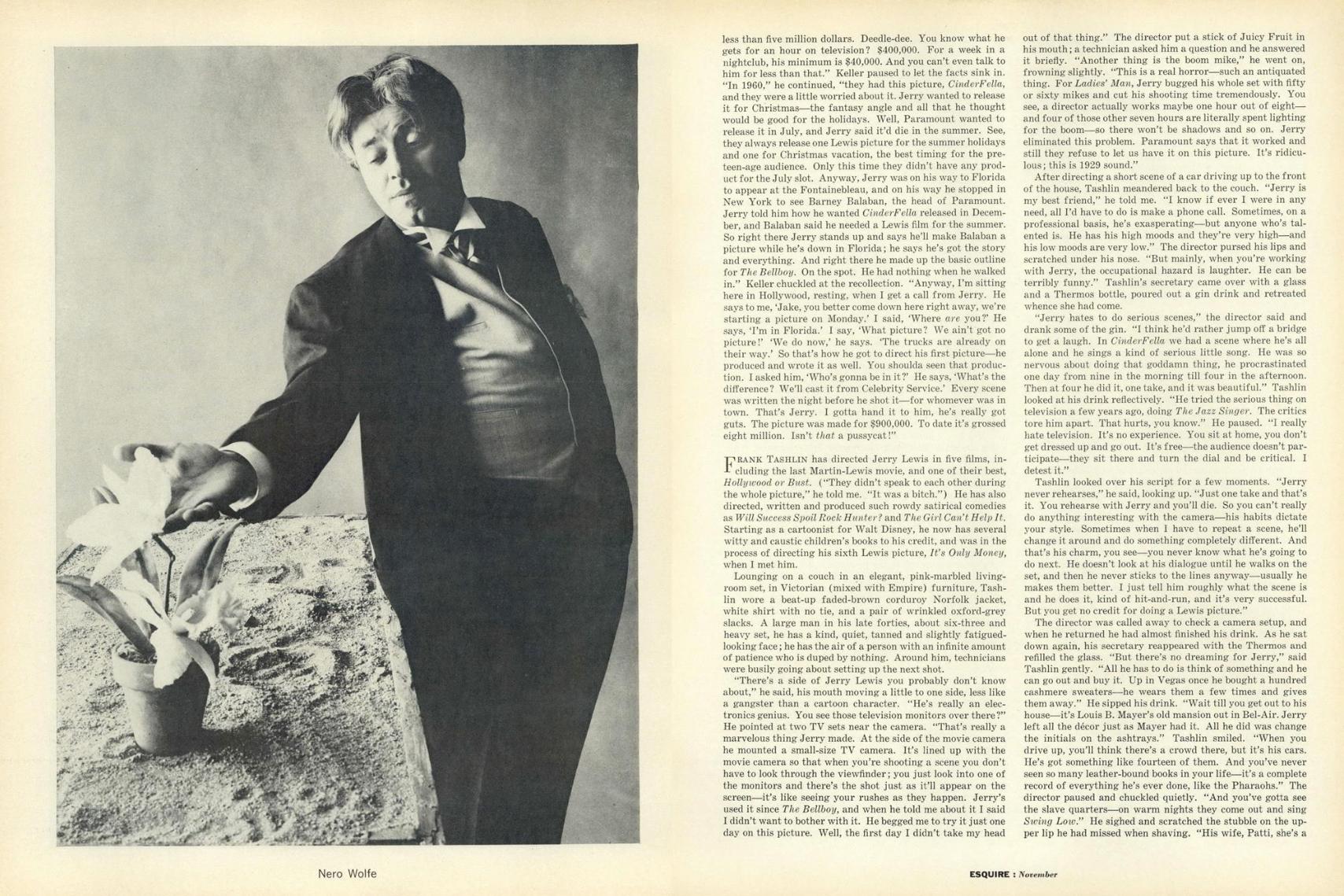 Howard Zieff 'Jerry Lewis 3', Esquire