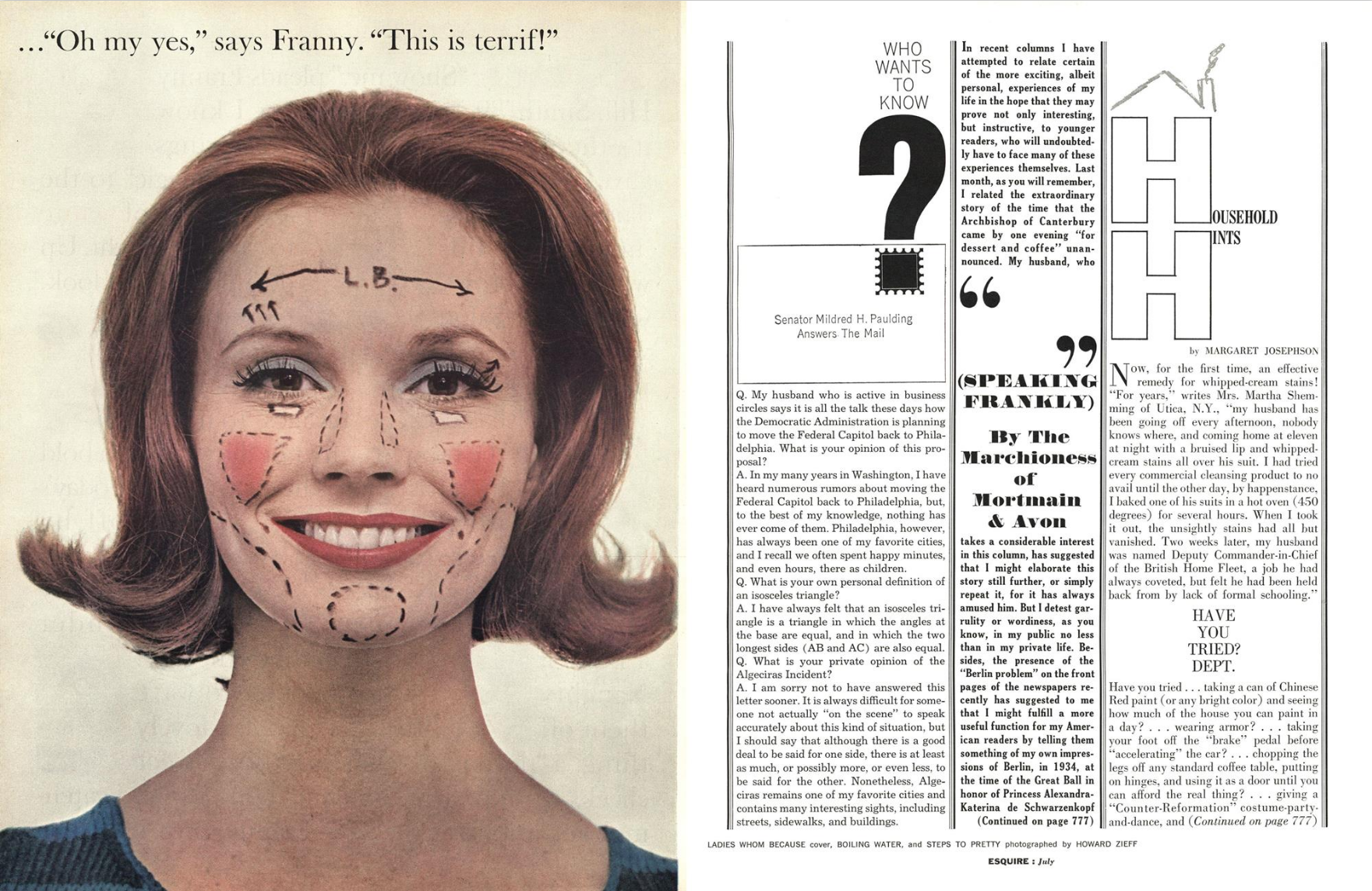 Howard Zieff 'Oh my Yes', Esquire