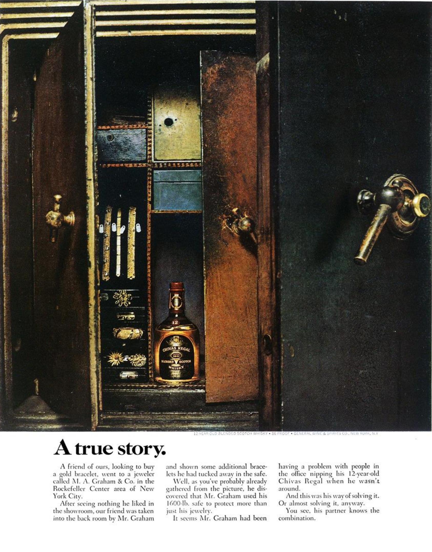 4. 'A True Story*' Chivas Regal, DDB NY (Esquire)