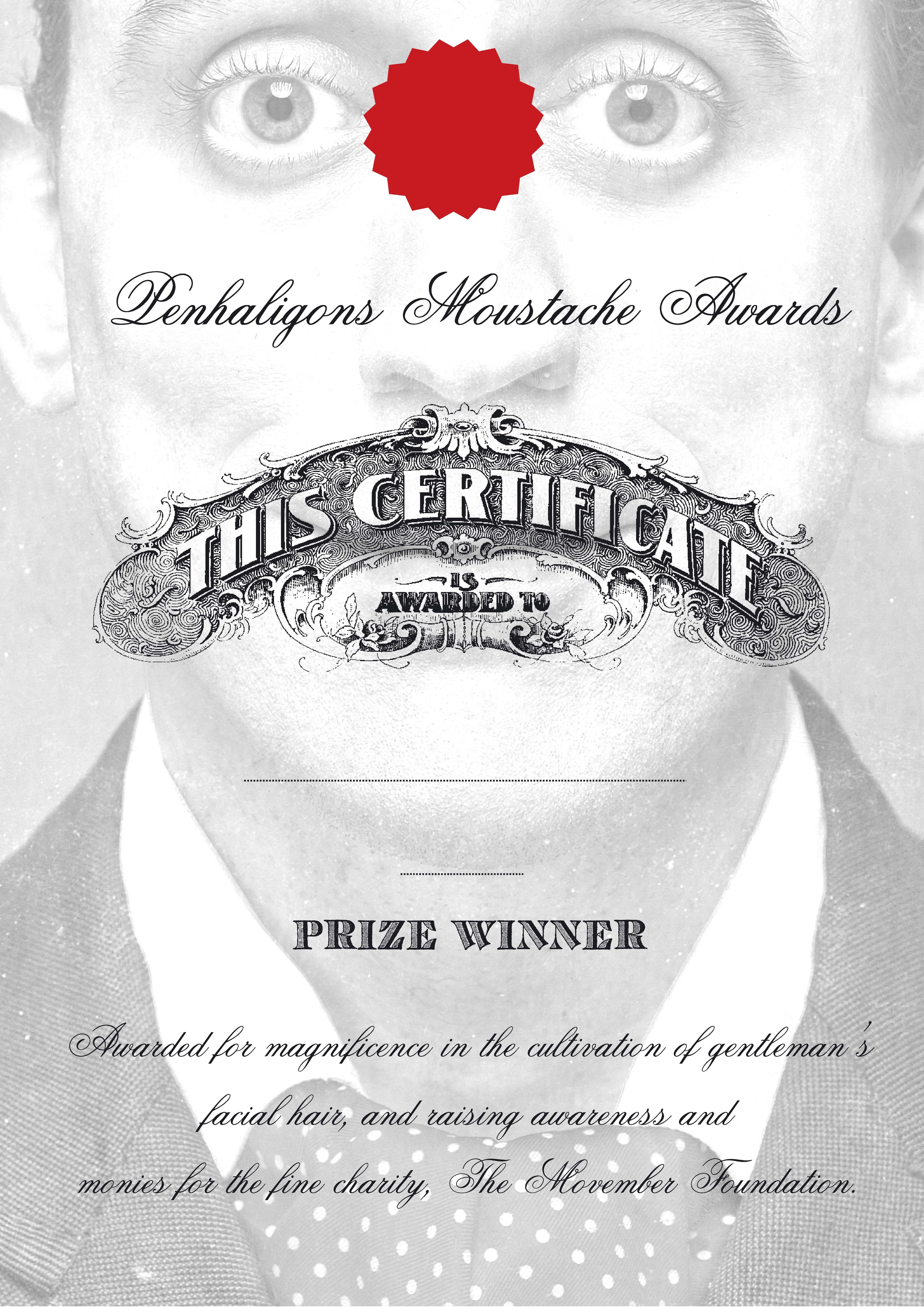 'Certificate 2 - Movember' Penhaligon's, DHM.jpg