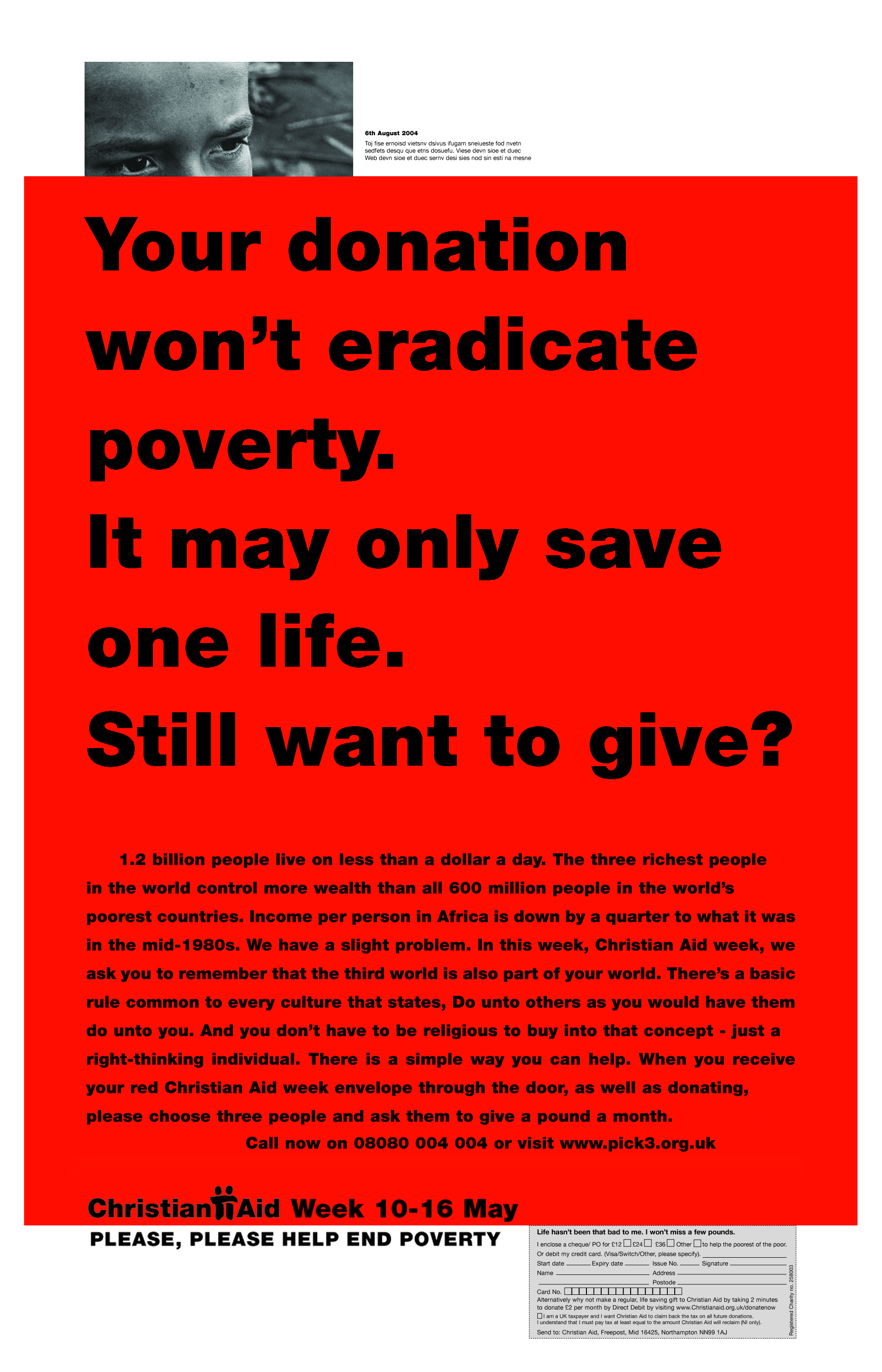 Christian Aid, RED 'Only one life?'. CDD-01.jpg